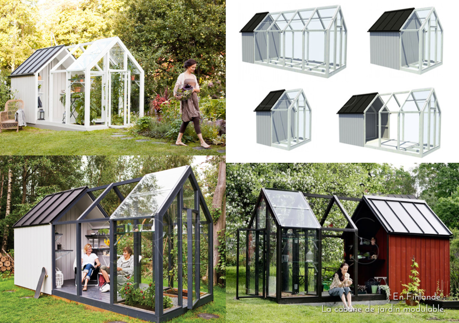 En Finlande : La Cabane De Jardin Modulable.   Cabane Jardin ... à Amenagement Chalet De Jardin
