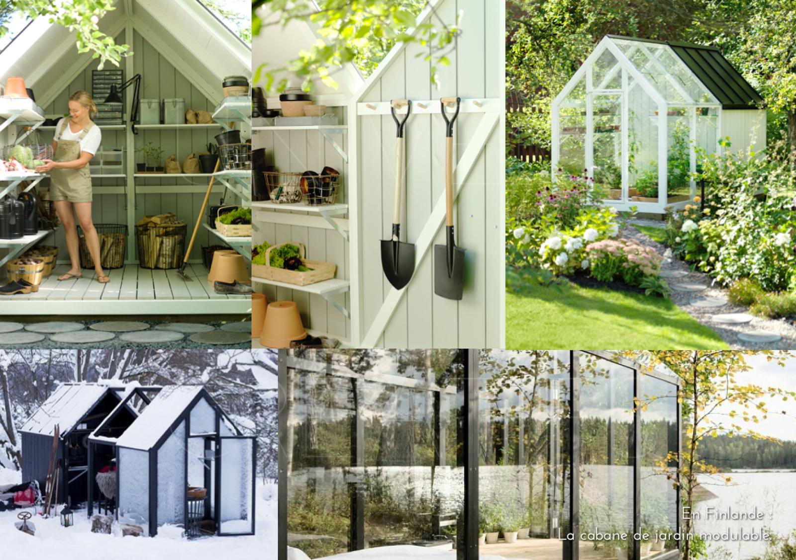 En Finlande : La Cabane De Jardin Modulable.   Cabane Jardin ... destiné Abri De Jardin Finlandais