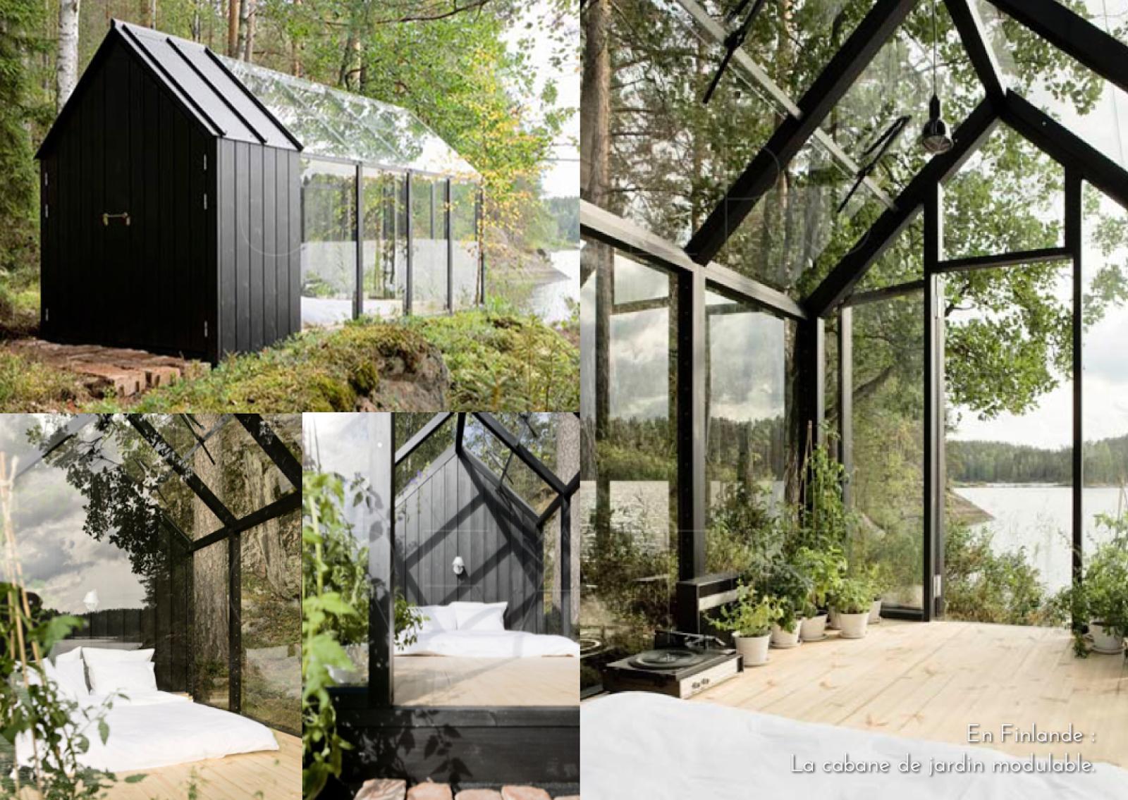 En Finlande : La Cabane De Jardin Modulable.   Cabane Jardin ... intérieur Abri De Jardin Finlandais