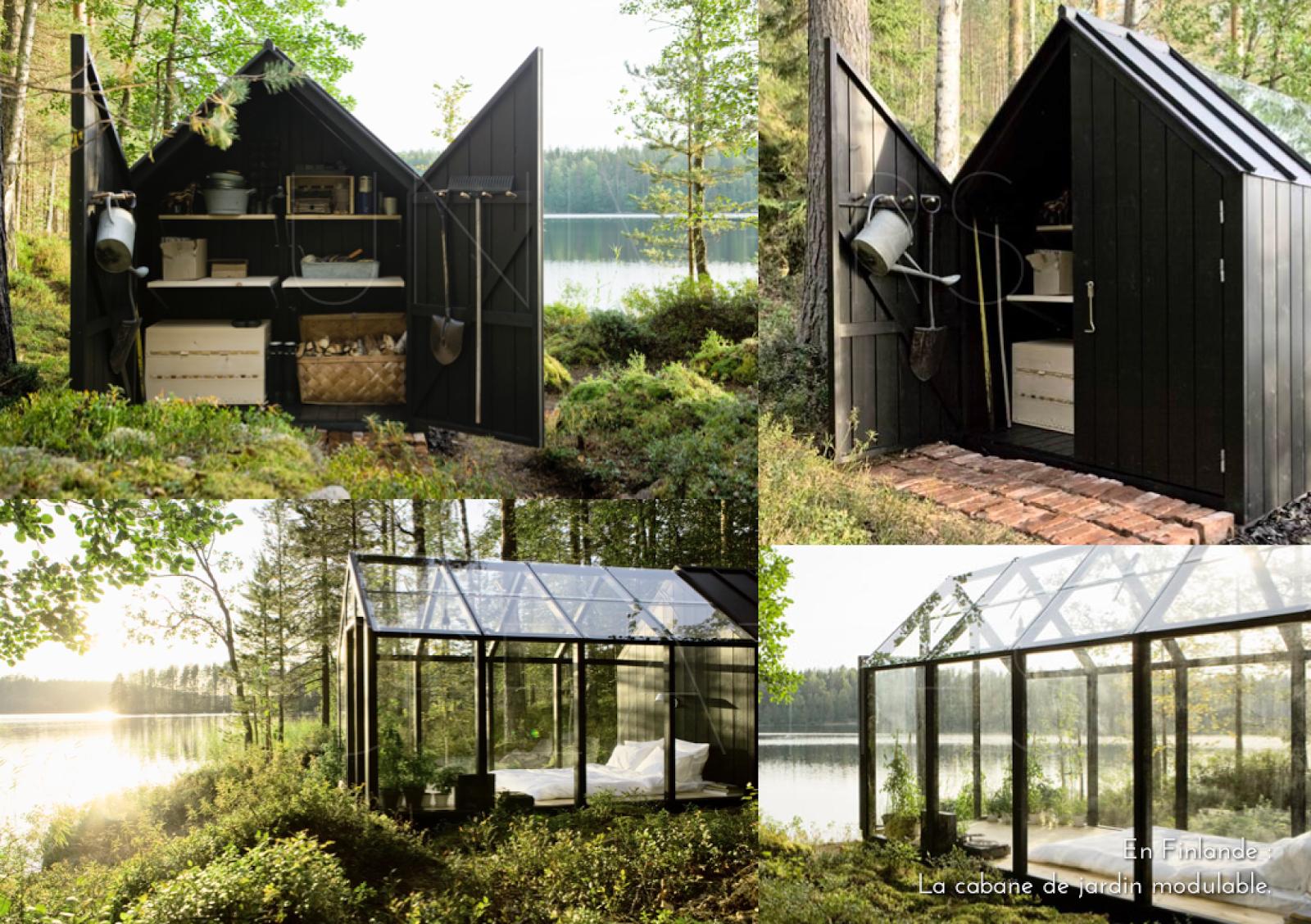 En Finlande : La Cabane De Jardin Modulable.   Cabane Jardin ... tout Abri De Jardin Finlandais