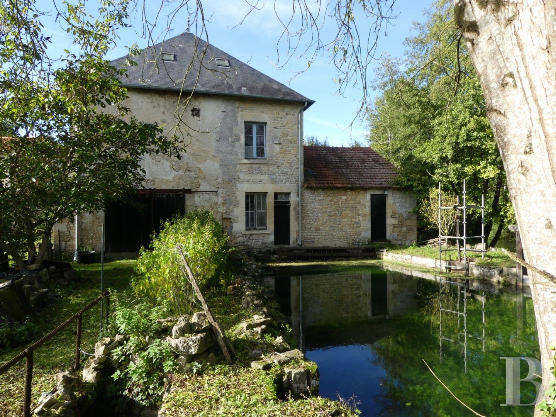 En Pleine Nature Sans Être Isolé, Avec Une Maison D'habitation, Un  Vénérable Moulin Tourné Vers L'avenir à Moulin De Jardin A Vendre