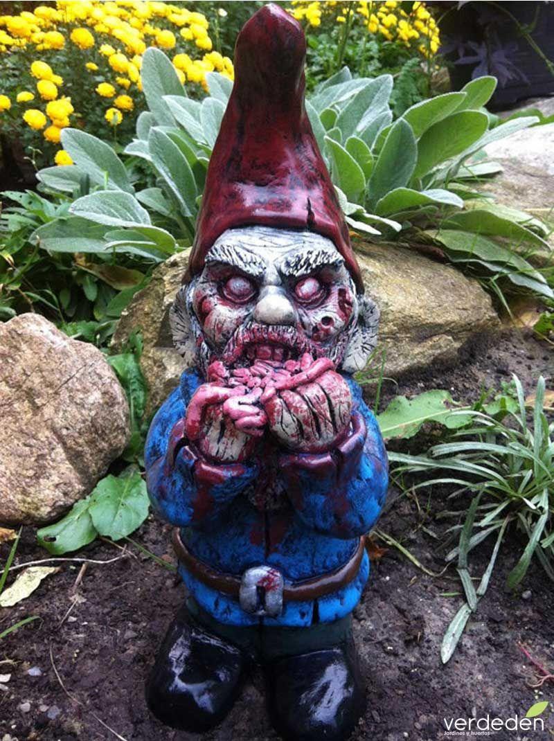 Enano O Gnomos De Jardin Zombie   Gnomos De Jardín, Hada De ... à Nain De Jardin Zombie