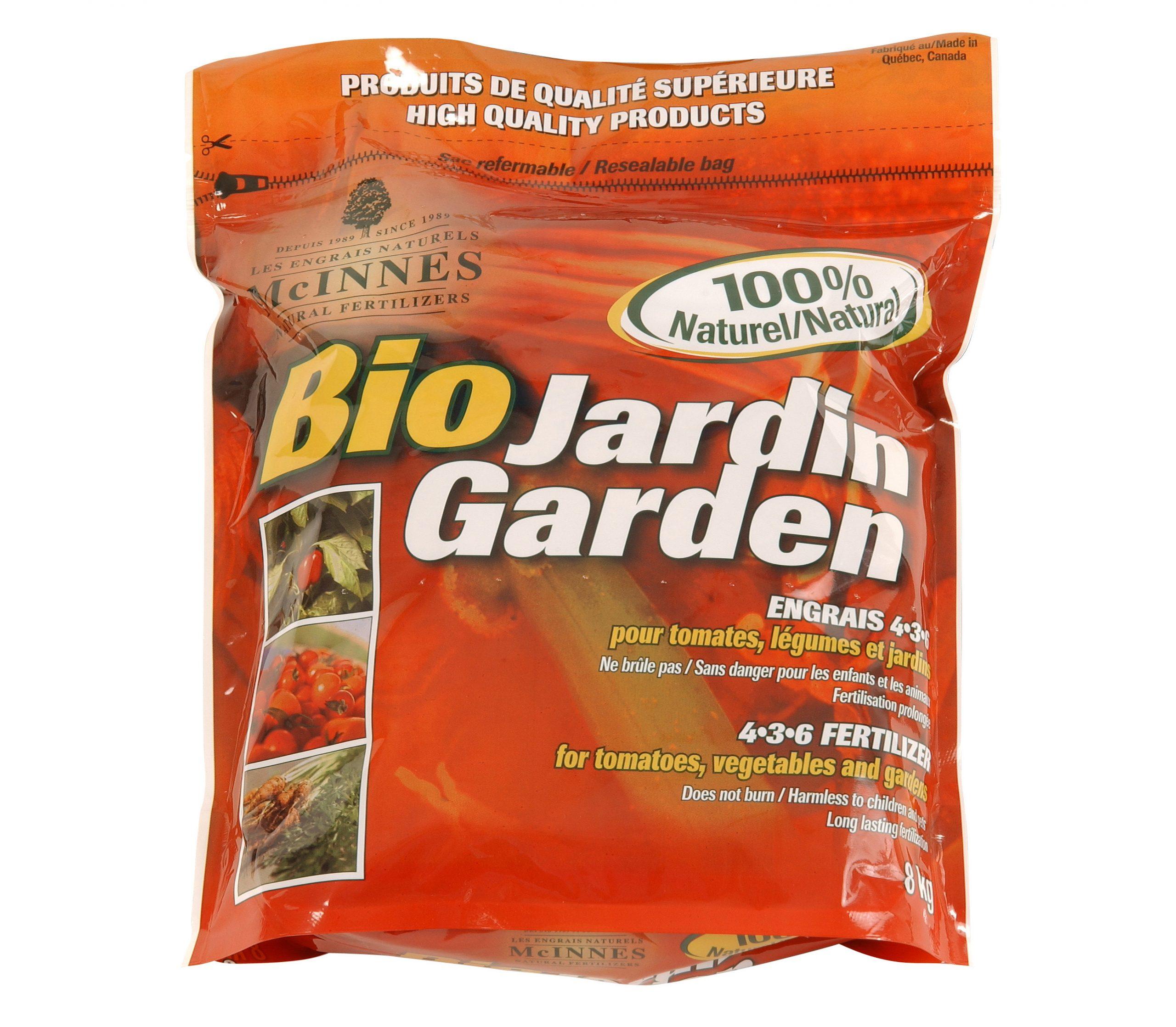 Engrais Bio-Jardin Mcinnes 4-3-6 8 Kg - Floralies Jouvence à Engrais Bio Jardin