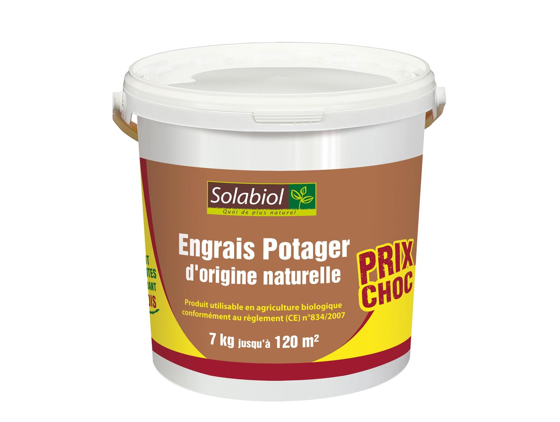 Engrais Naturel Pour Le Potager 7Kg Solabiol - Engrais ... dedans Engrais Bio Jardin