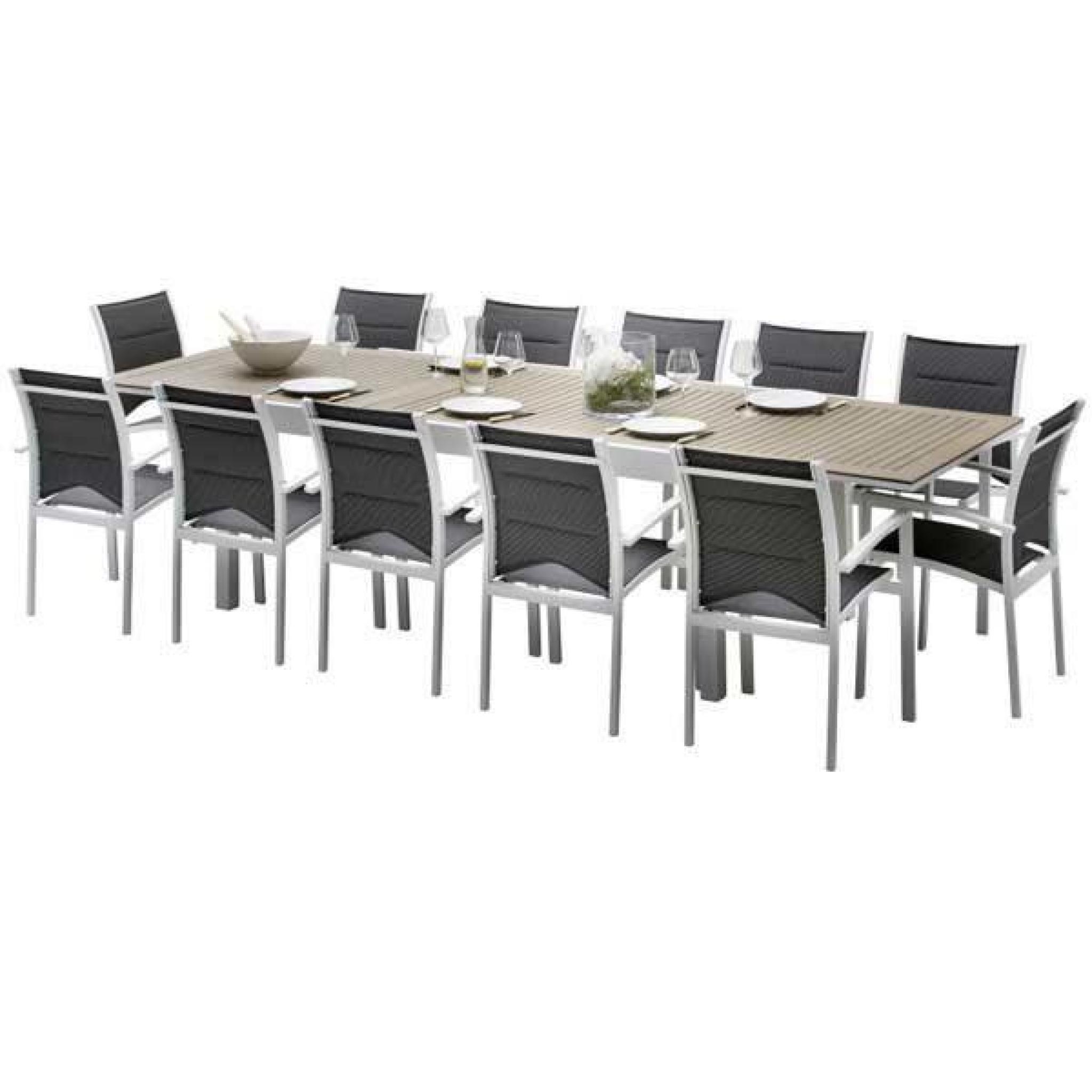 Ensemble De Table Et Chaises De Jardin Lattées Polywood Modulo 10 Places  Polywood encequiconcerne Table Et Chaises De Jardin Pas Cher