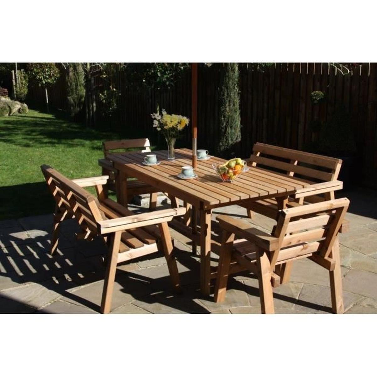 Ensemble Patio - Jardin Meubles, 6Ft Table, 2 Banc, 2 ... intérieur Cdiscount Table De Jardin
