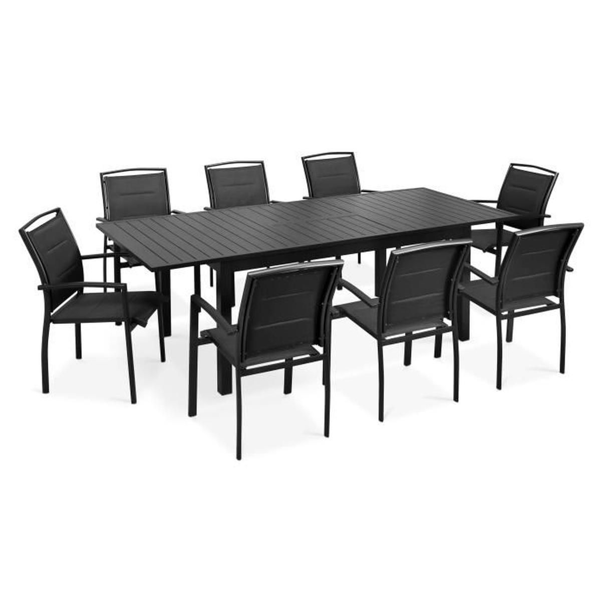 Ensemble Table Et Chaise De Jardin Avec Ralonge avec Table De Jardin En Aluminium Avec Rallonge