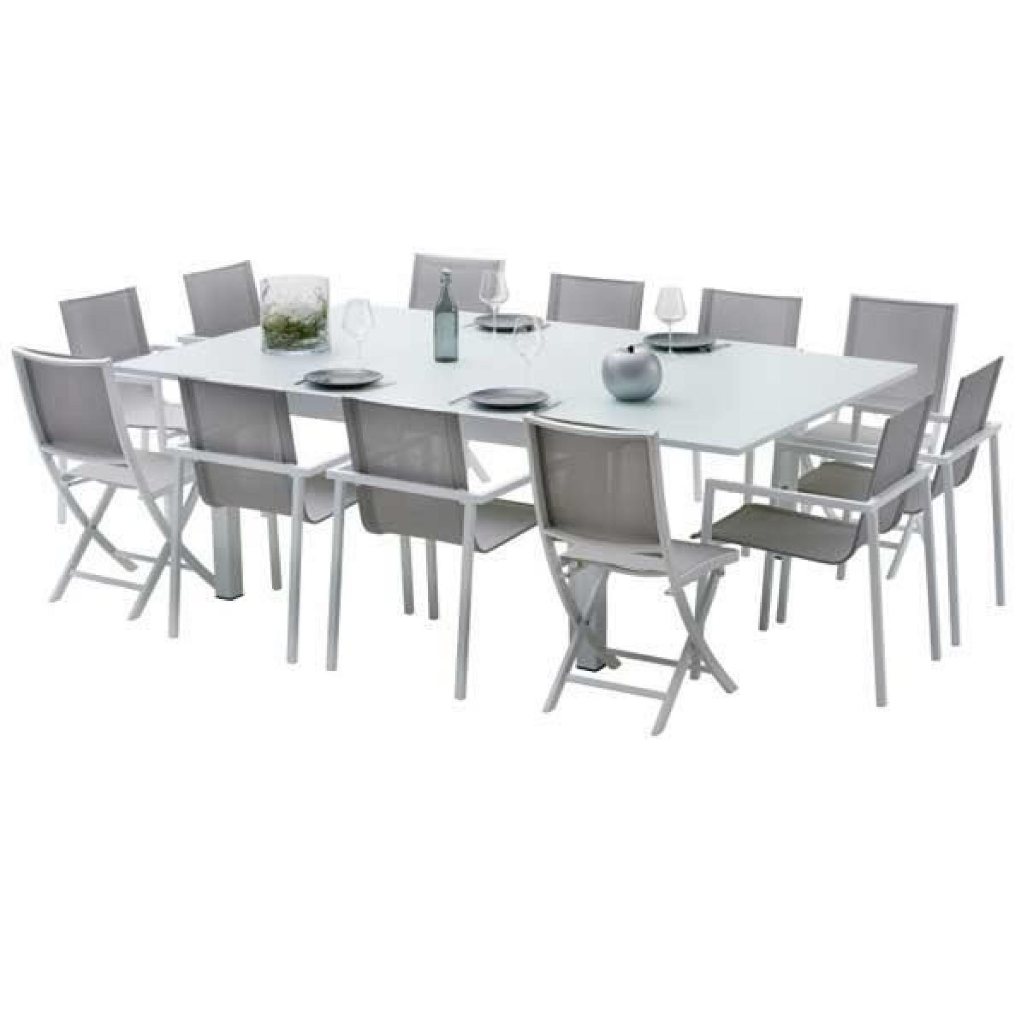 Ensemble Table Et Chaises De Jardin Extensibles Carre Whitestar 8 Places serapportantà Table Et Chaises De Jardin Pas Cher