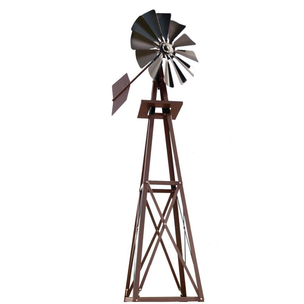 Eolienne Décorative Recouverte En Poudre Bronze - Petite serapportantà Petite Éolienne De Jardin