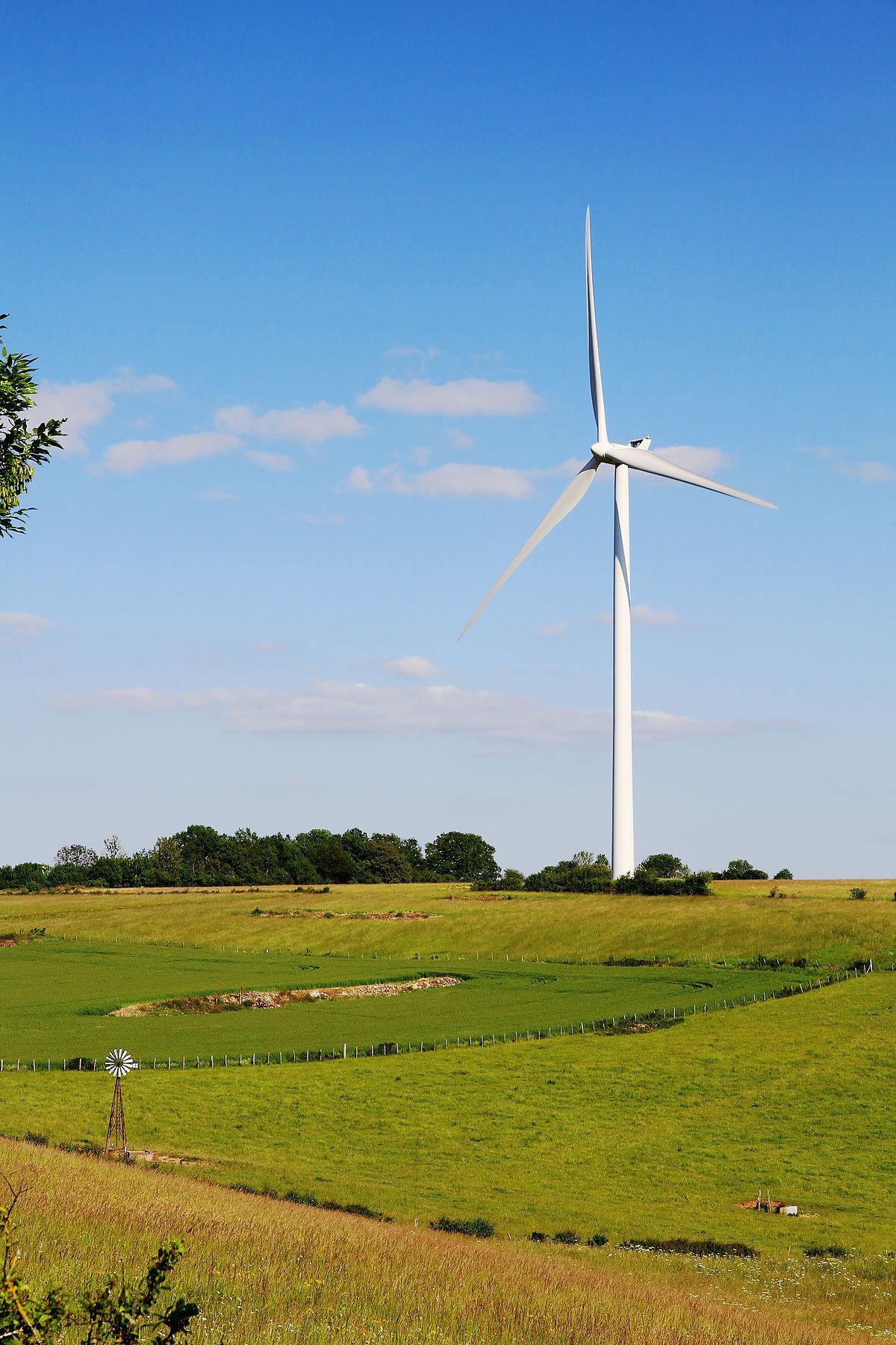 Éolienne — Wikipédia destiné Petite Éolienne De Jardin