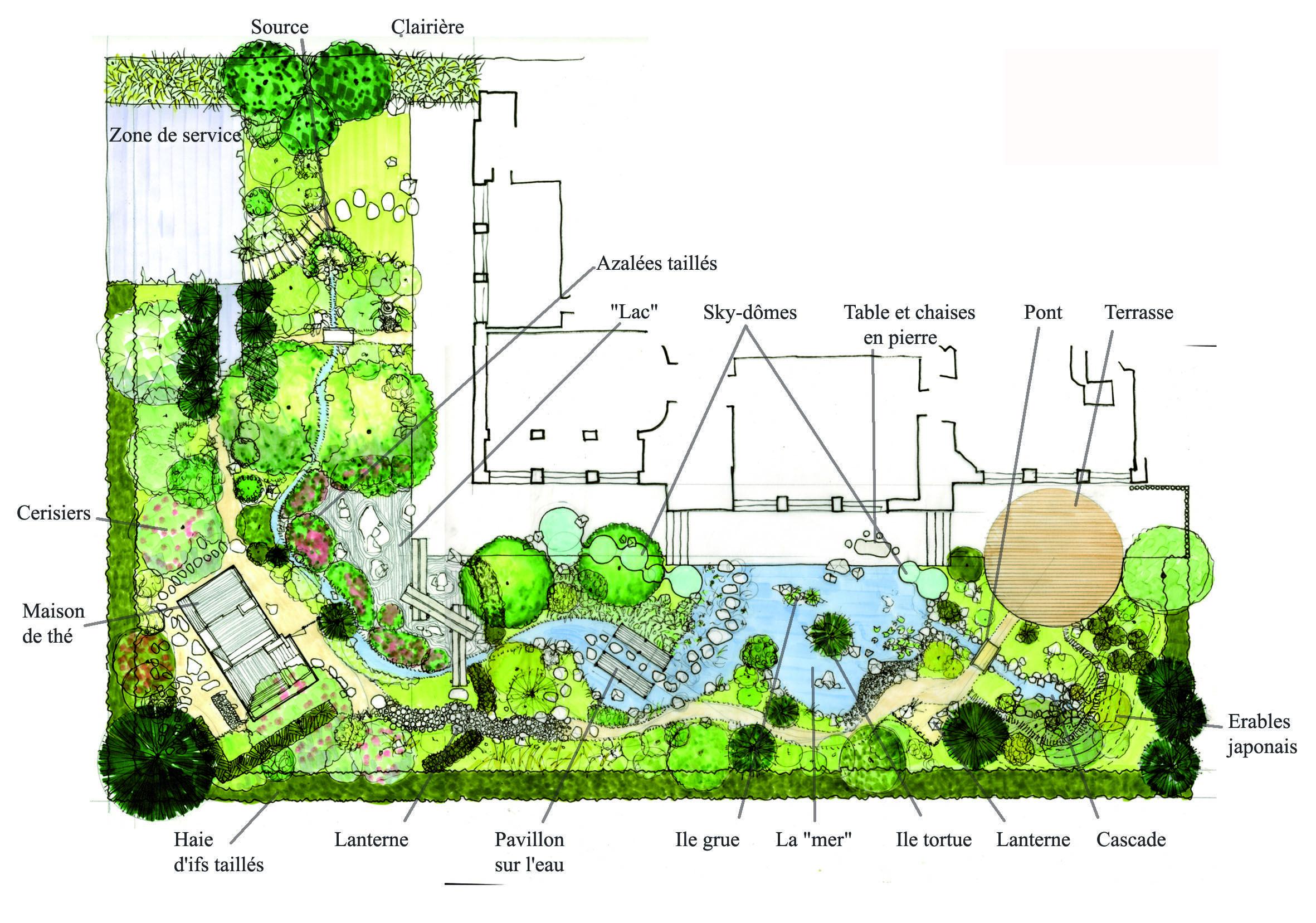 Épinglé Par Cécile Le Masson Sur Jardin Japonais | Plan ... encequiconcerne Créer Jardin Japonais Facile
