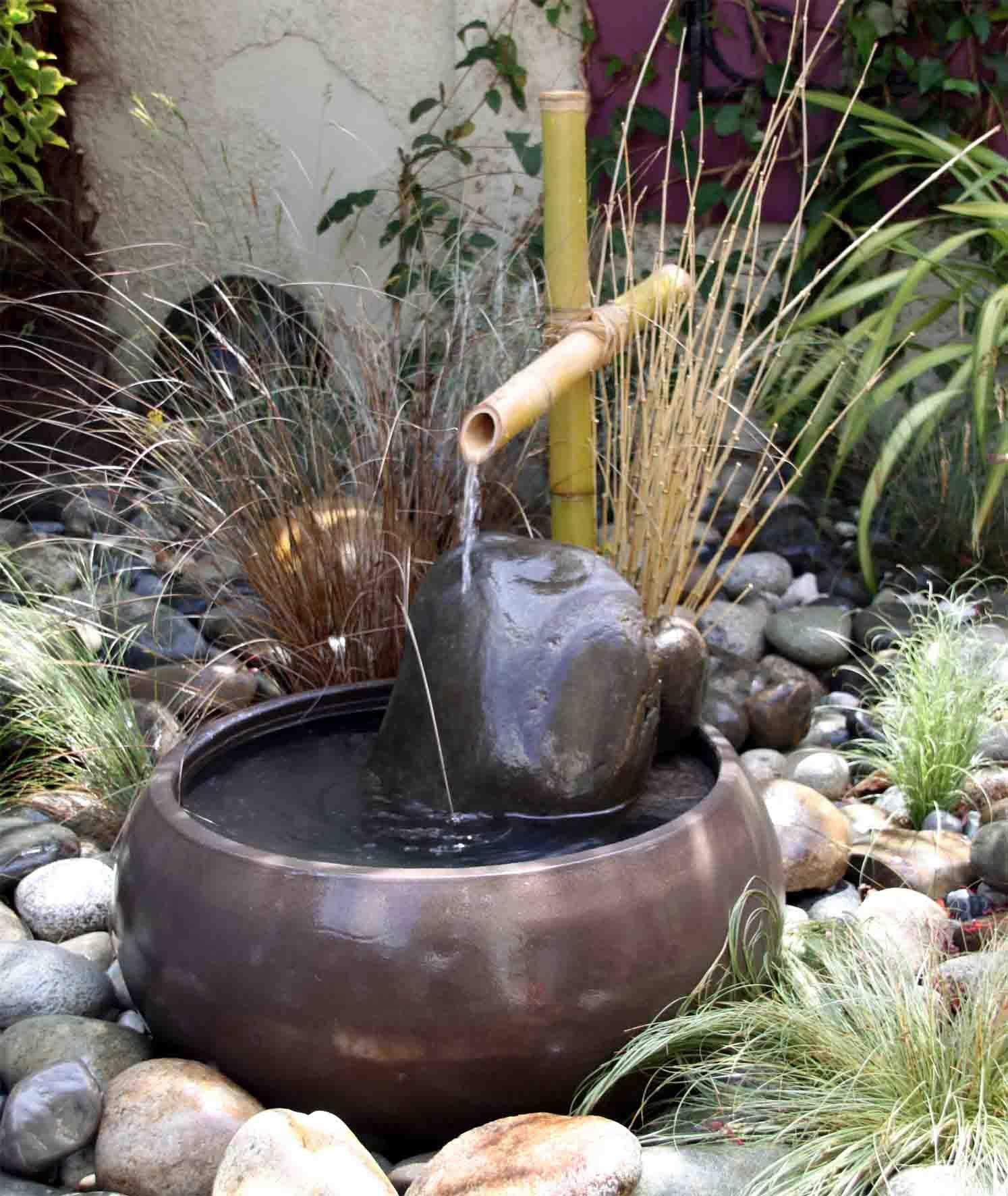 Épinglé Par Cristina Cerro Sur Estanques | Deco Jardin Zen ... encequiconcerne Fontaine Jardin Japonais