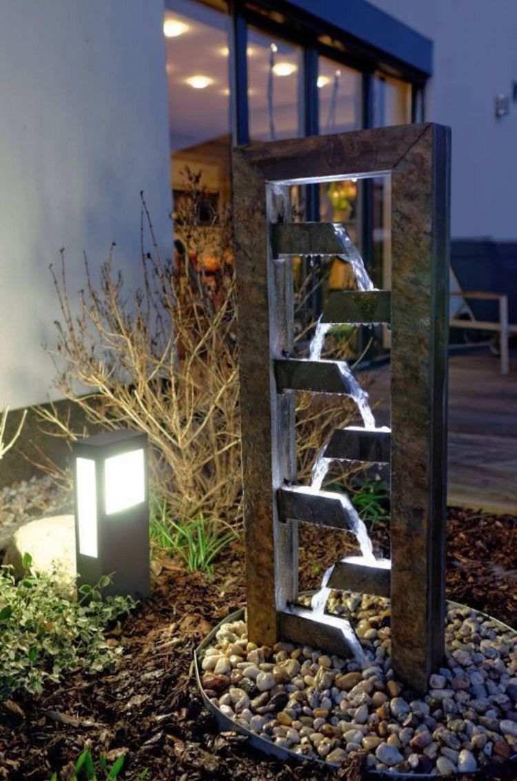 Épinglé Par Debora Sur Terrasse | Fontaine Exterieur ... dedans Fontaine Exterieure De Jardin Moderne