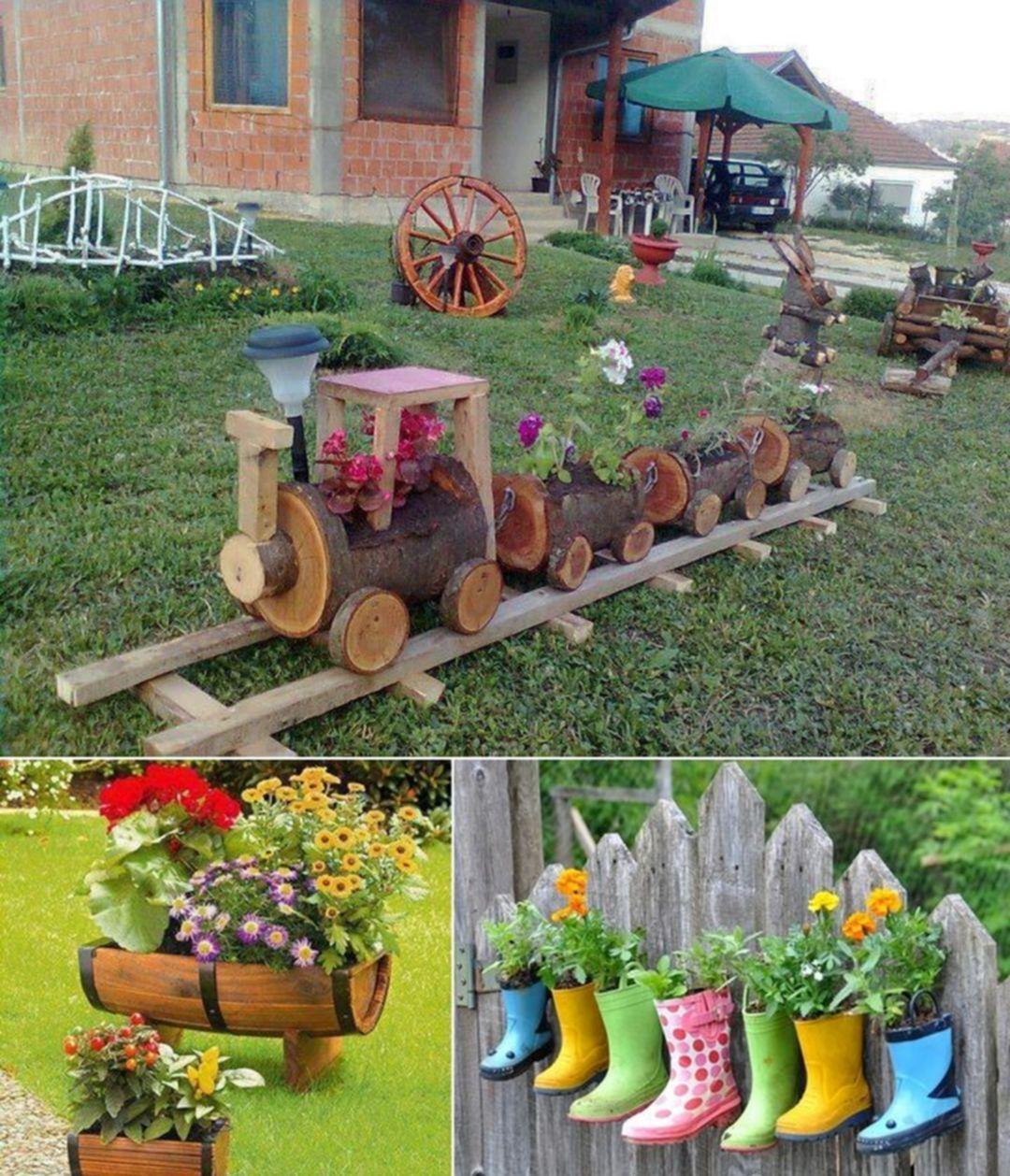 Épinglé Par France Morin Sur Horticulture | Déco Jardin ... intérieur Astuce Deco Jardin Recup