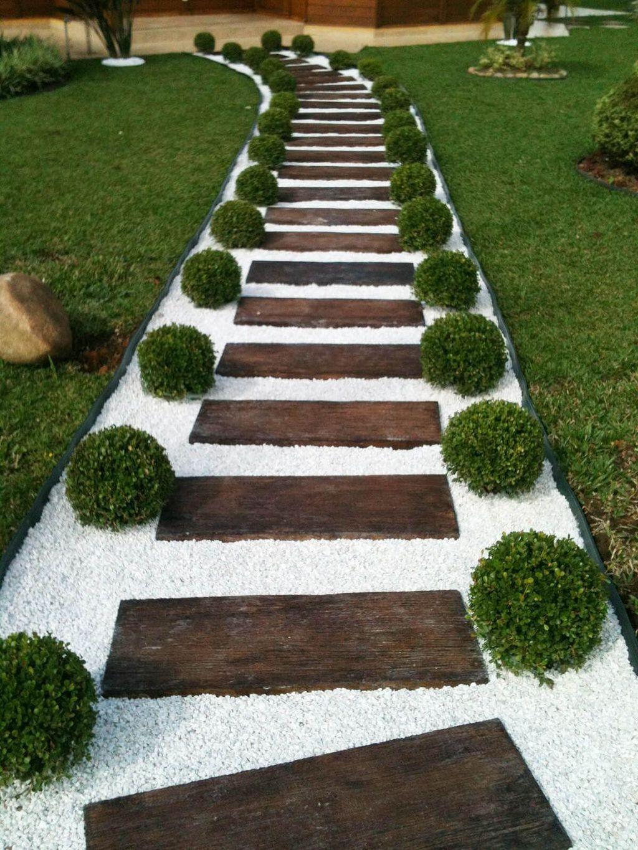 Épinglé Par Khalil Sur Aménagement Extérieur | Jardins ... pour Jardin Avec Galets Blancs