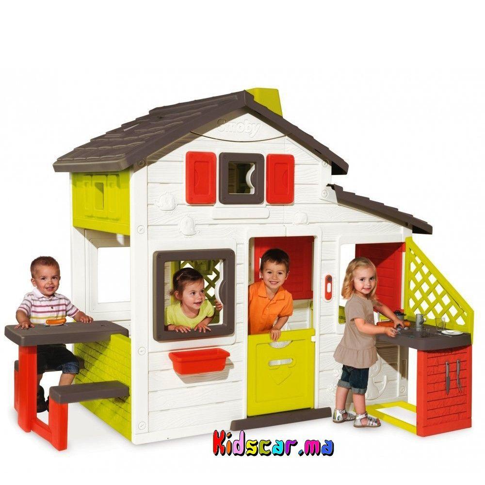 Épinglé Par Kidscar.ma Sur Kidscar.ma : Jeux Jouets Plein ... avec Maison De Jardin En Plastique