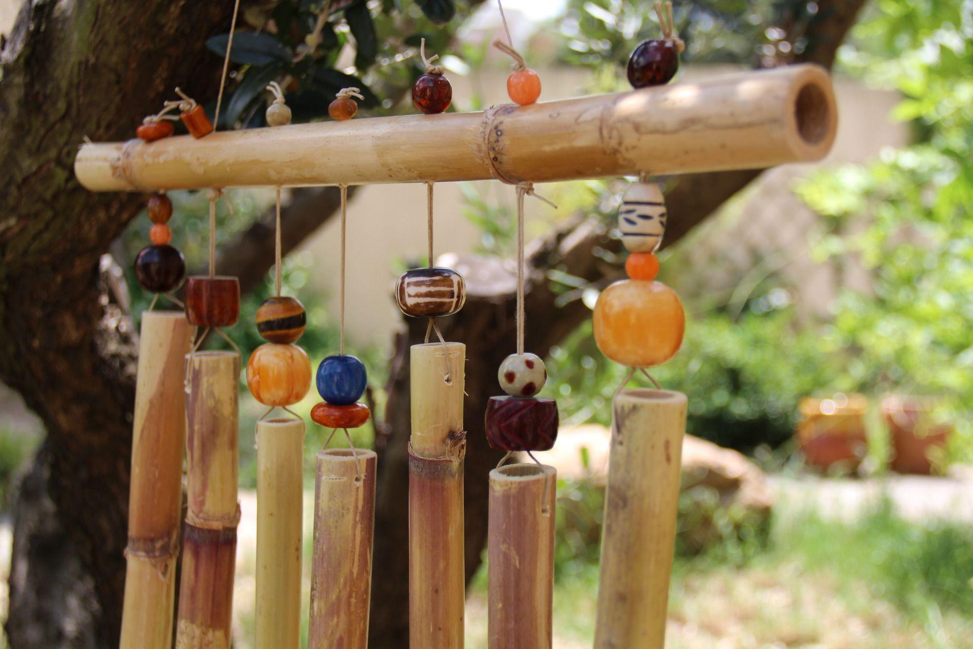 Épinglé Par Léa Schreiber Sur La Boîte À Idées En 2020 ... serapportantà Carillon Bambou Jardin