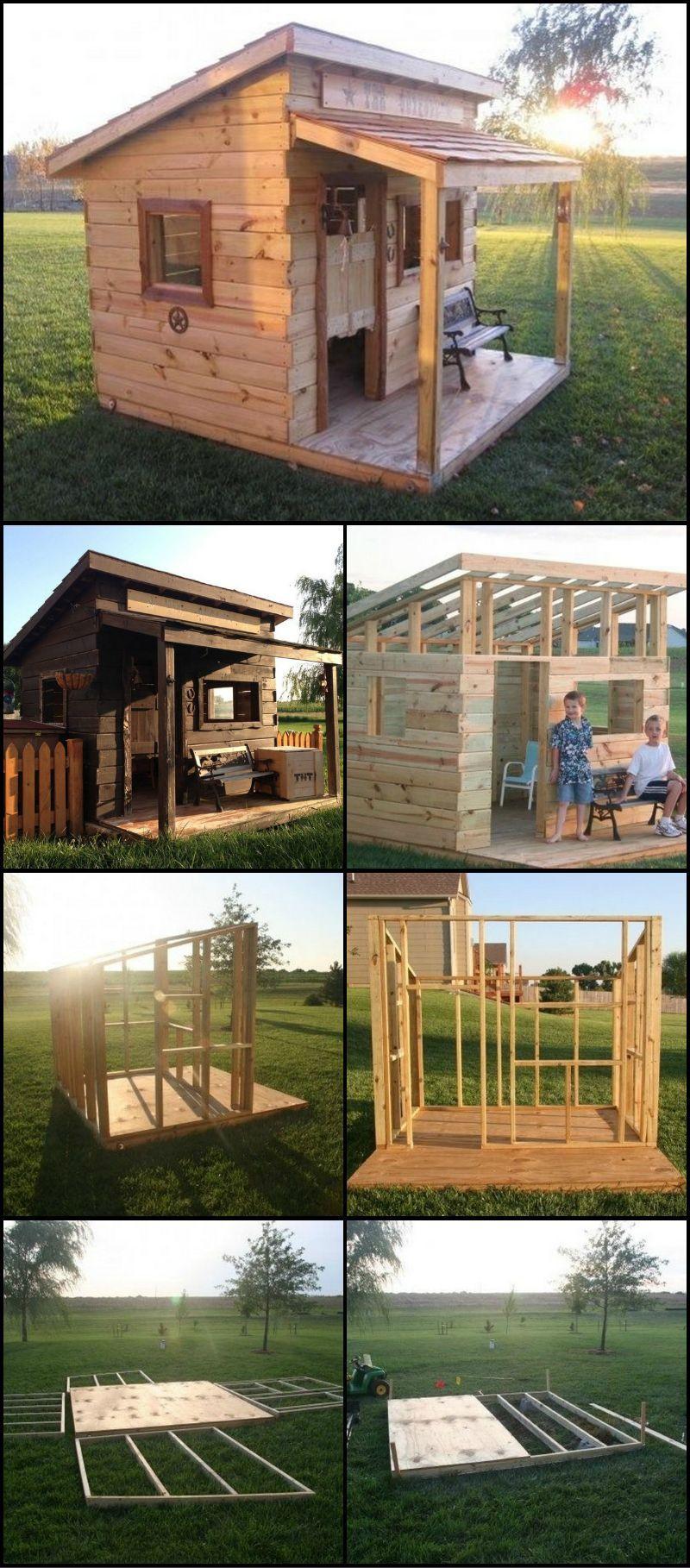Épinglé Par Michel Bonvalot Sur Bricolage Et Diy   Maisons ... à Construire Cabane De Jardin