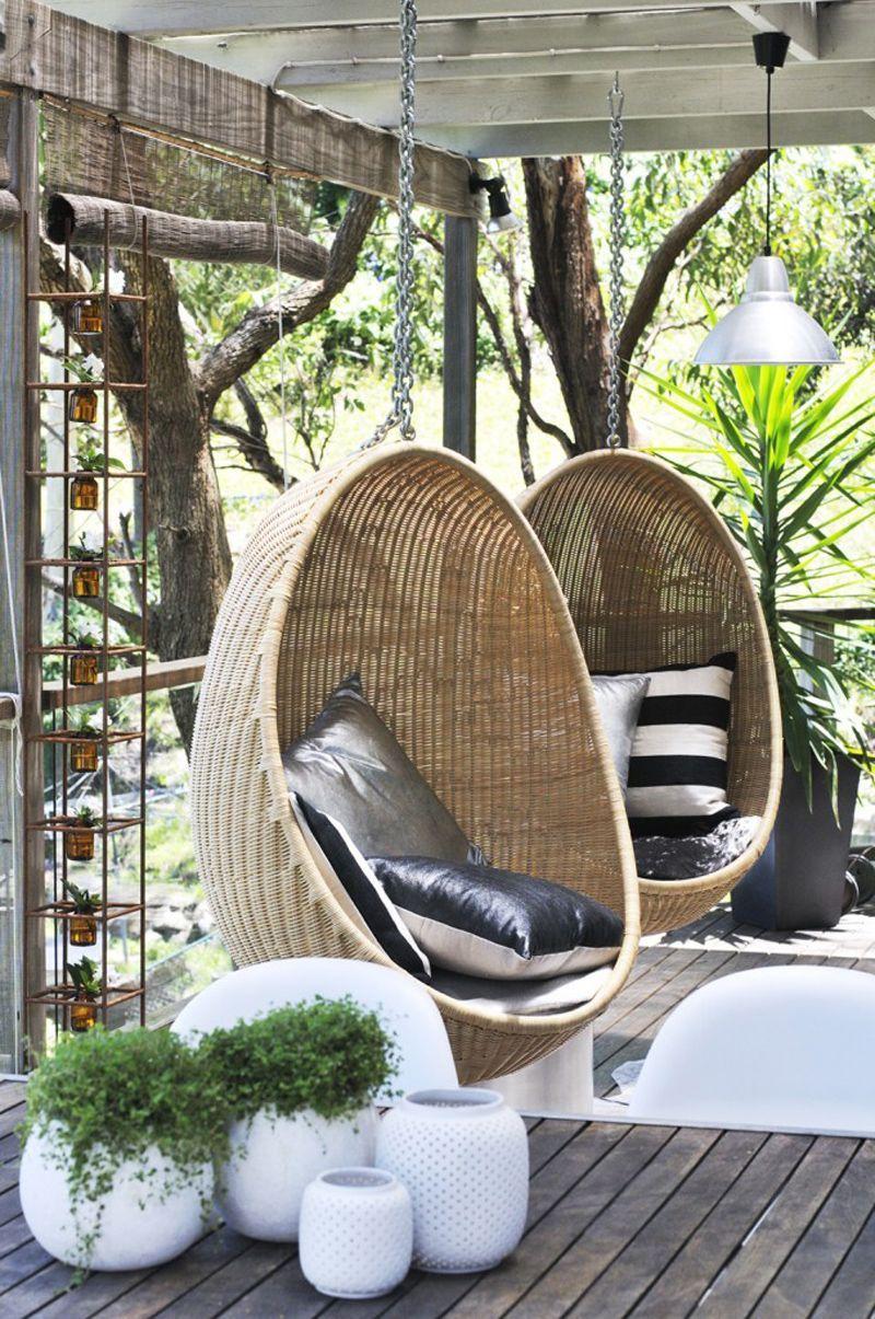 Épinglé Par Nsophie Sur Bienvenue Chez Nous | Jardins, Deco ... à Chaise Suspendue Jardin