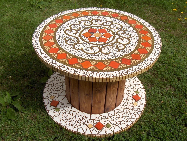 Épinglé Par Roxana Muñoz Herrera Sur Manualidades   Table ... serapportantà Salon Jardin Mosaique