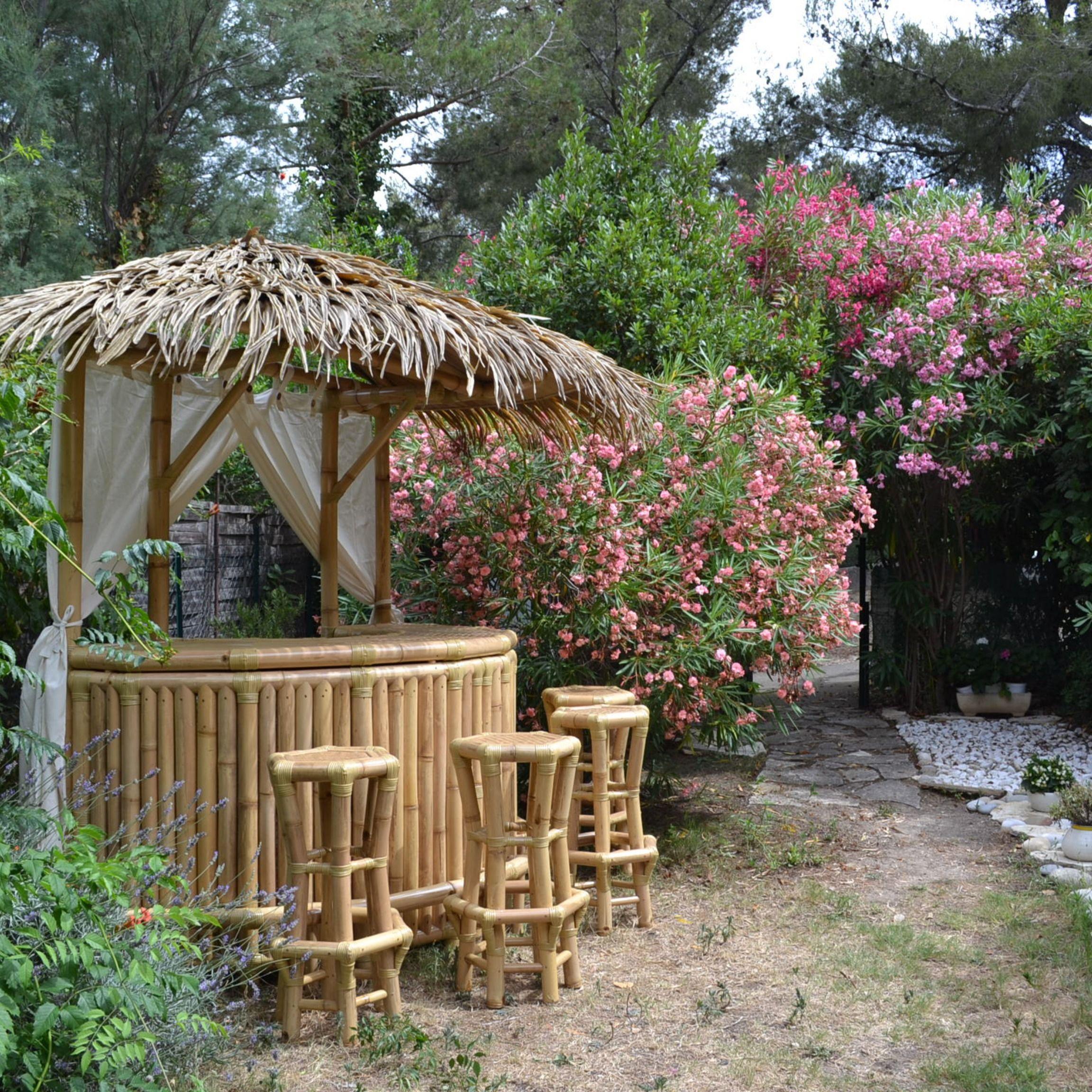 Épinglé Sur Gazebo Bambou, Paillote Bambou Et Bar En Bambou tout Paillote Jardin