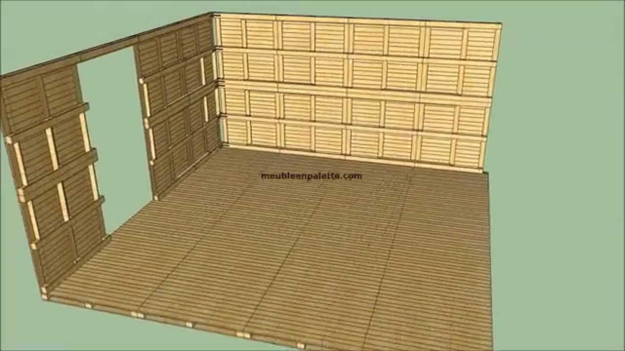 Épinglé Sur Idées Pour La Maison concernant Construire Son Abri De Jardin En Palette