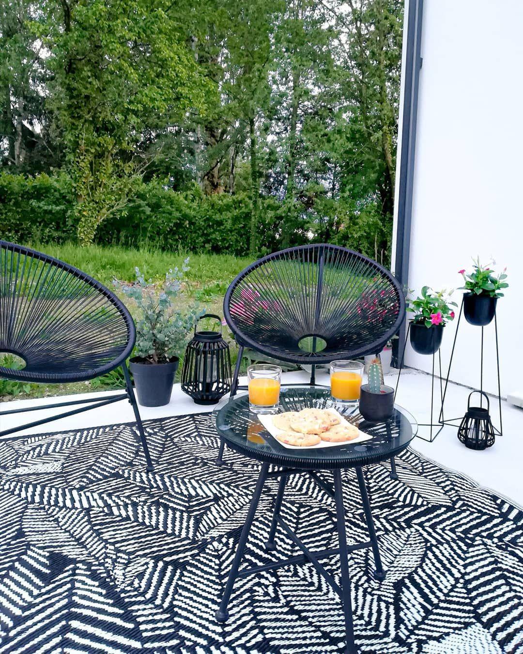 Épinglé Sur Tapis Extérieur avec Salon De Jardin Confortable