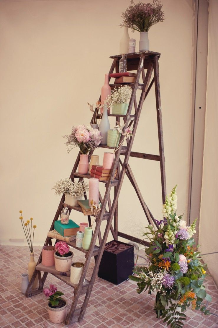Escabeau Decore | Deco, Ambiance Deco Et Échelle Deco pour Escabeau Jardin