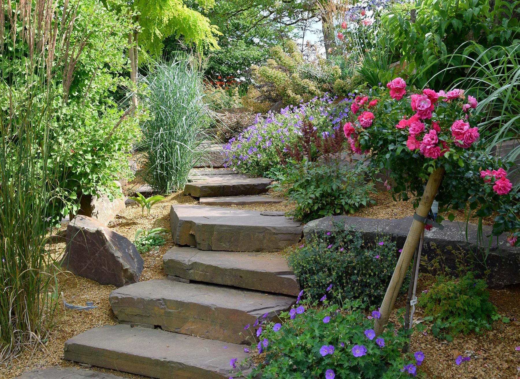 Escalier De Jardin - Aménagement D'escalier Extérieur ... destiné Exemple D Aménagement De Jardin