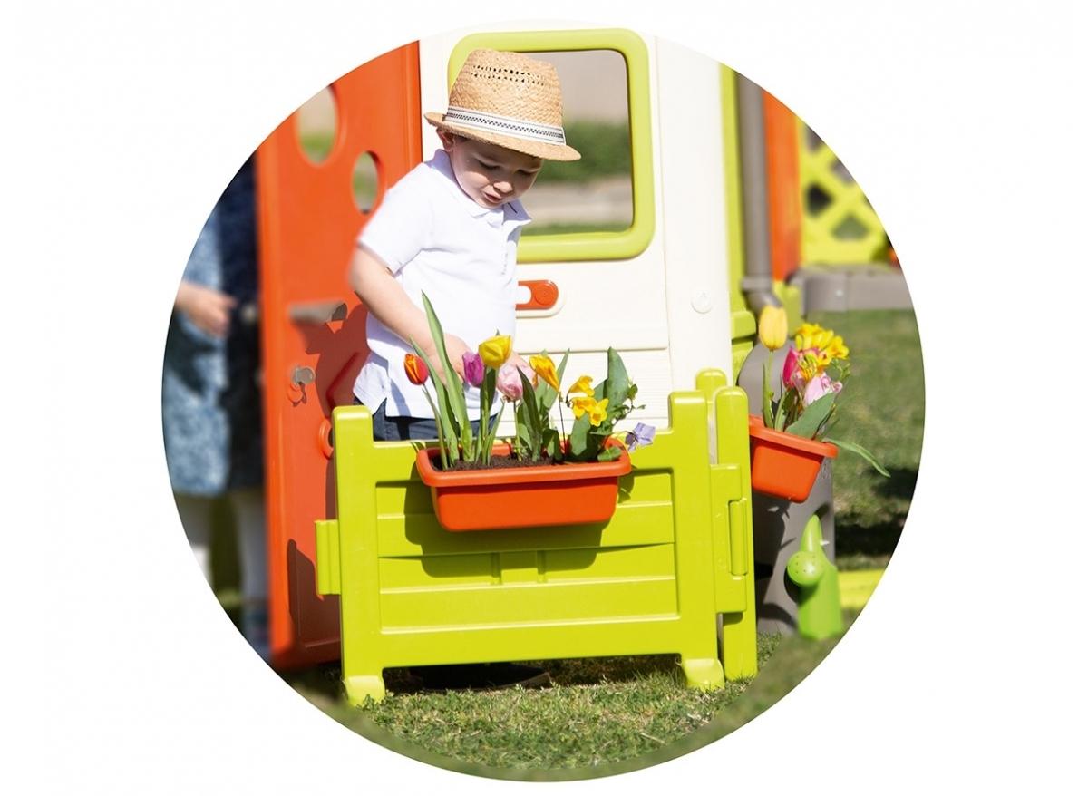 Espace Jardin Pour Cabane Enfant Neo Jura Lodge - Smoby serapportantà Cabane De Jardin Smoby