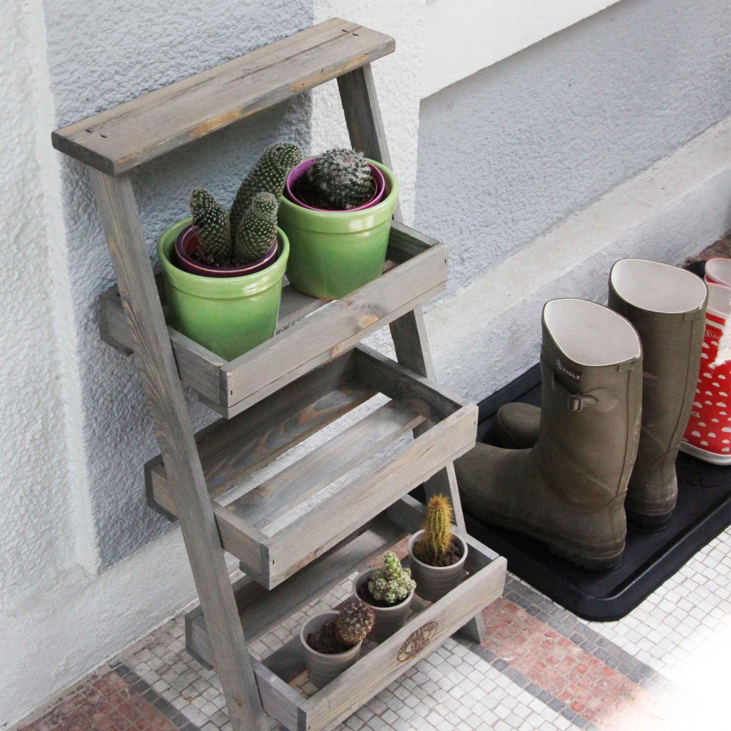 Etagère À Plantes Échelle avec Etageres Jardin Pour Plantes