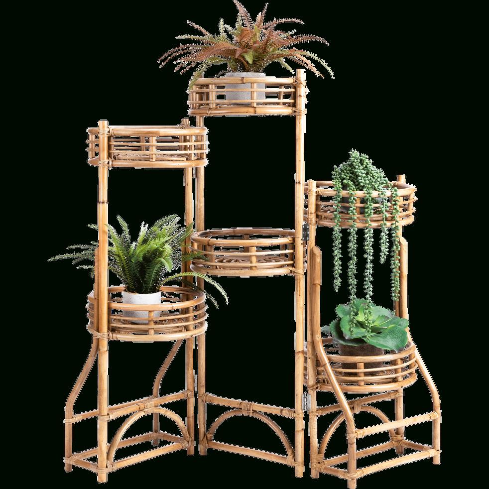 Étagère En Rotin Pour Plantes H125 Cm - Alinéa | Objet Deco ... pour Etageres Jardin Pour Plantes