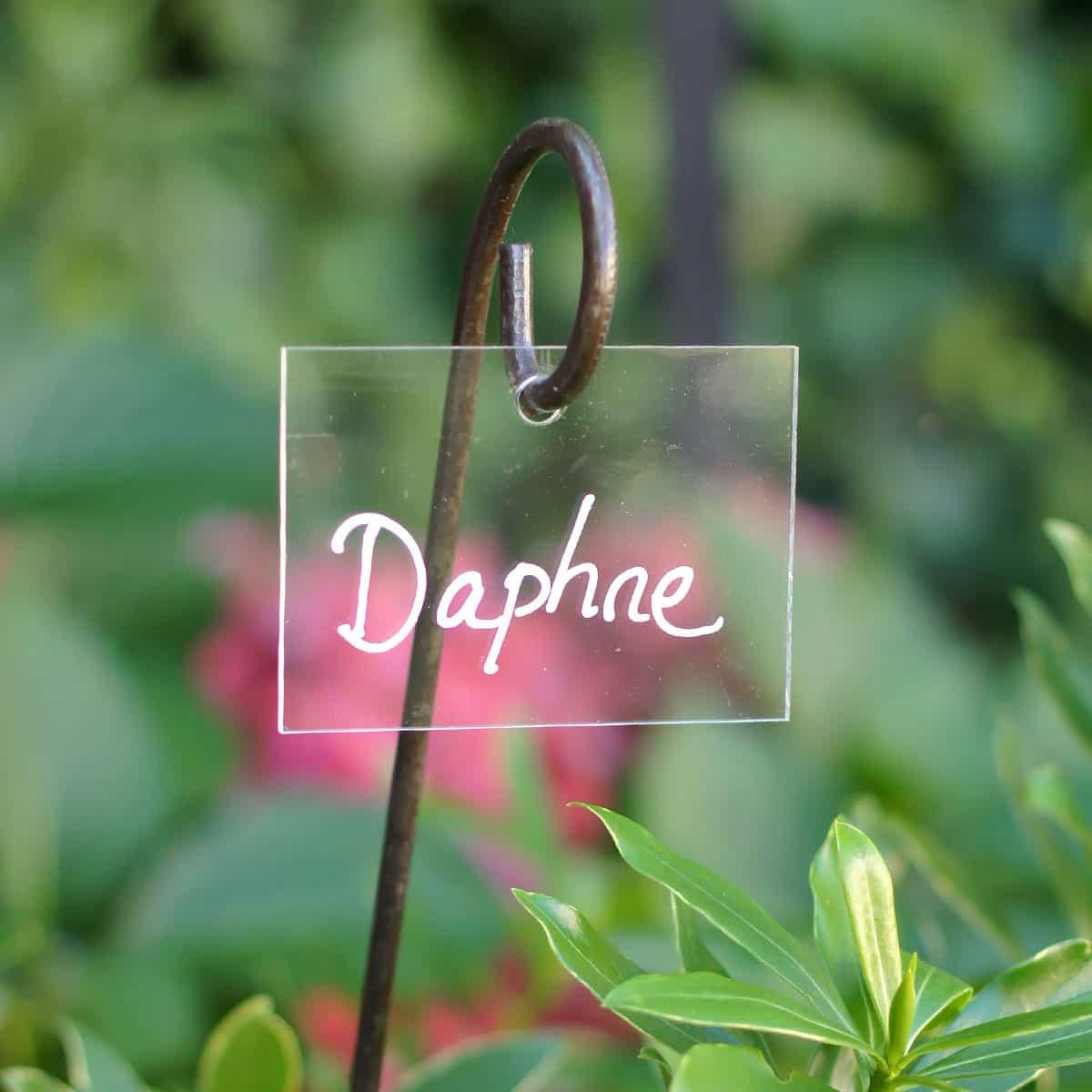 Etiquette Jardin Plexiglas Transparent serapportantà Etiquettes Jardin