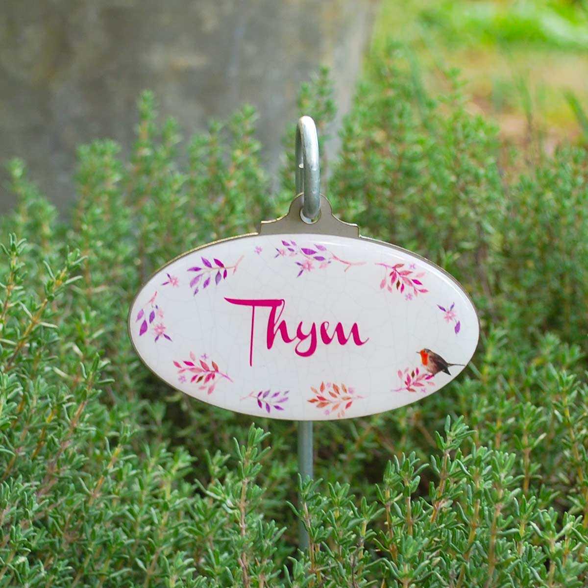 Etiquettes De Jardin Plantes Aromatiques Vintage dedans Etiquettes Jardin