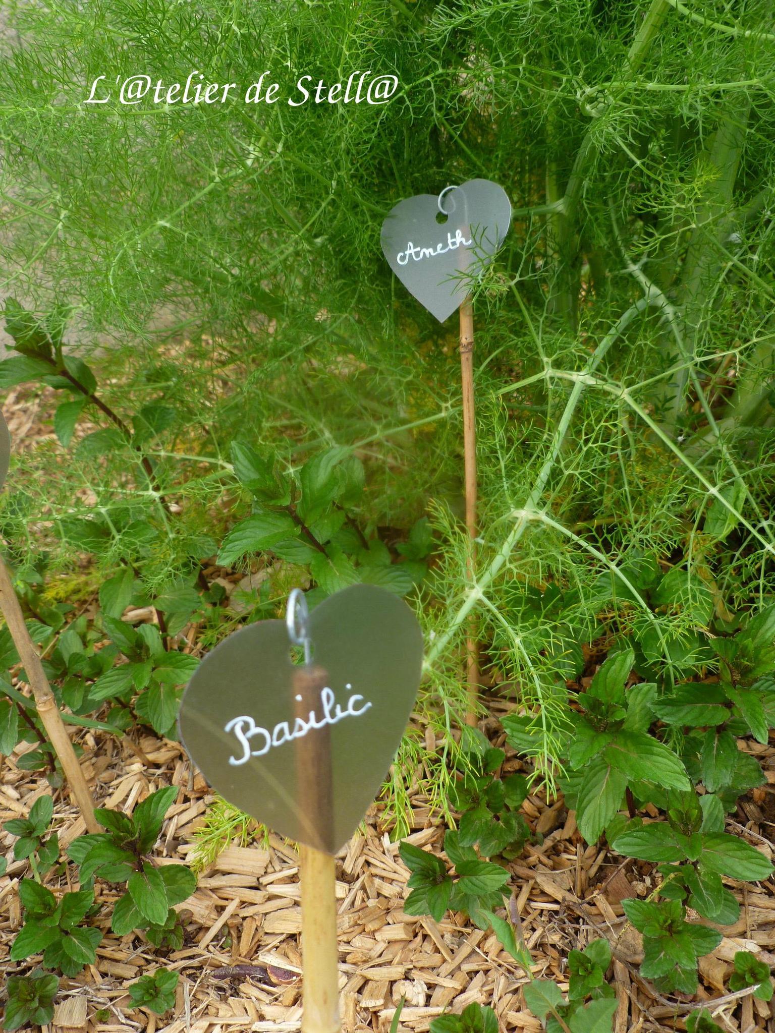 Etiquettes Pour Jardin Coeur - L '@telier De Stell@ intérieur Etiquettes Jardin