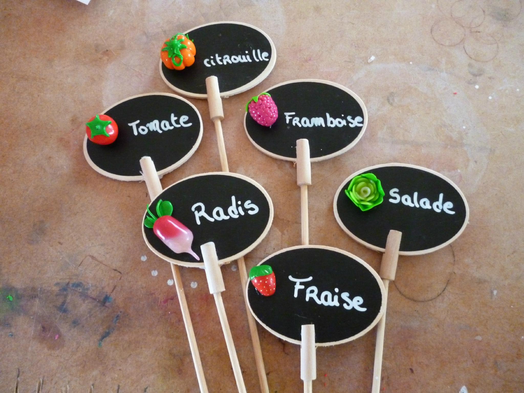 Etiquettes Pour Le Jardin Ou Les Pots De Fleurs - Les ... avec Etiquettes Jardin