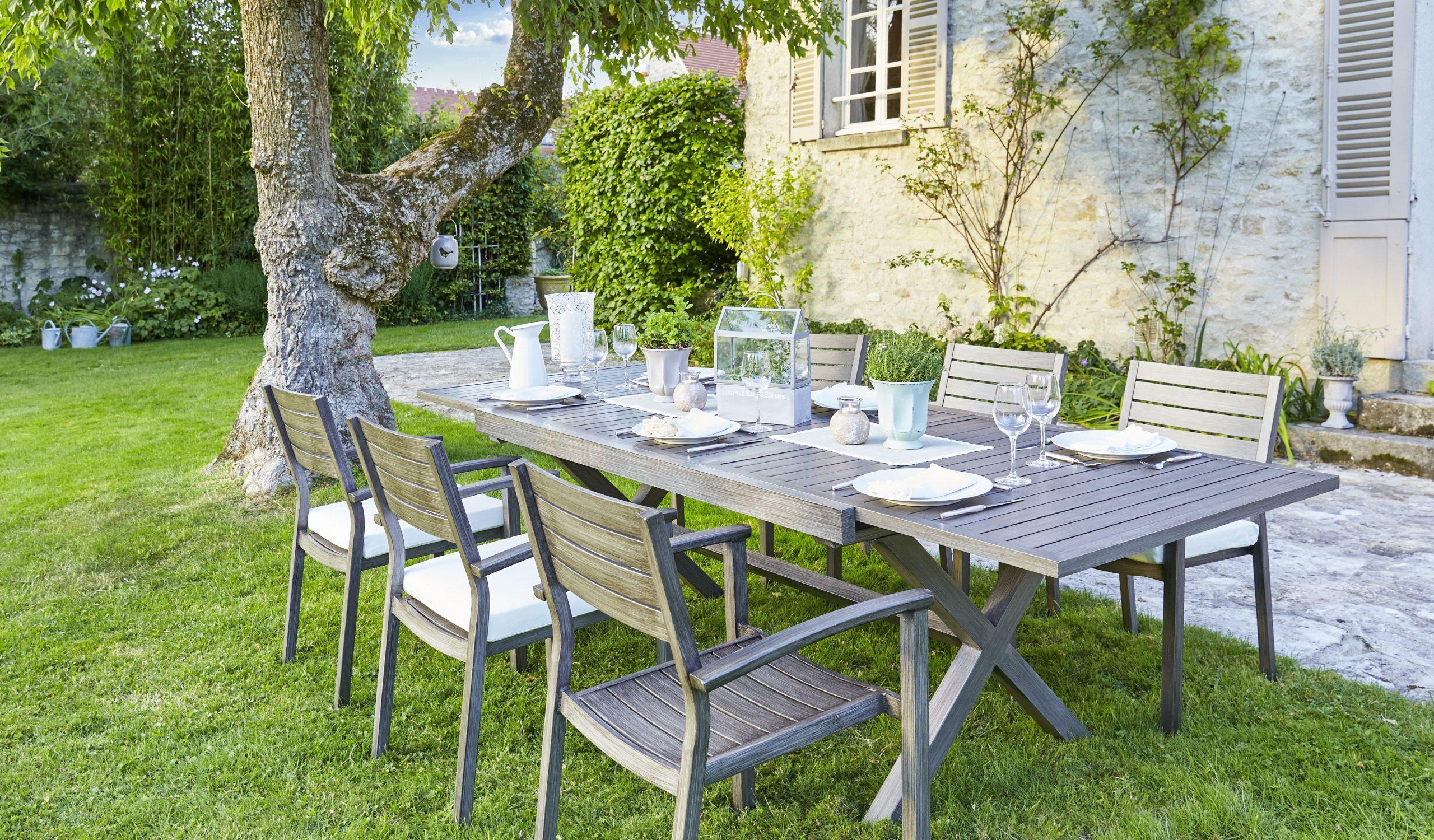 Evenements Jardin | Salle À Manger Jardin, Agrément De ... dedans Table Et Chaise De Jardin Carrefour