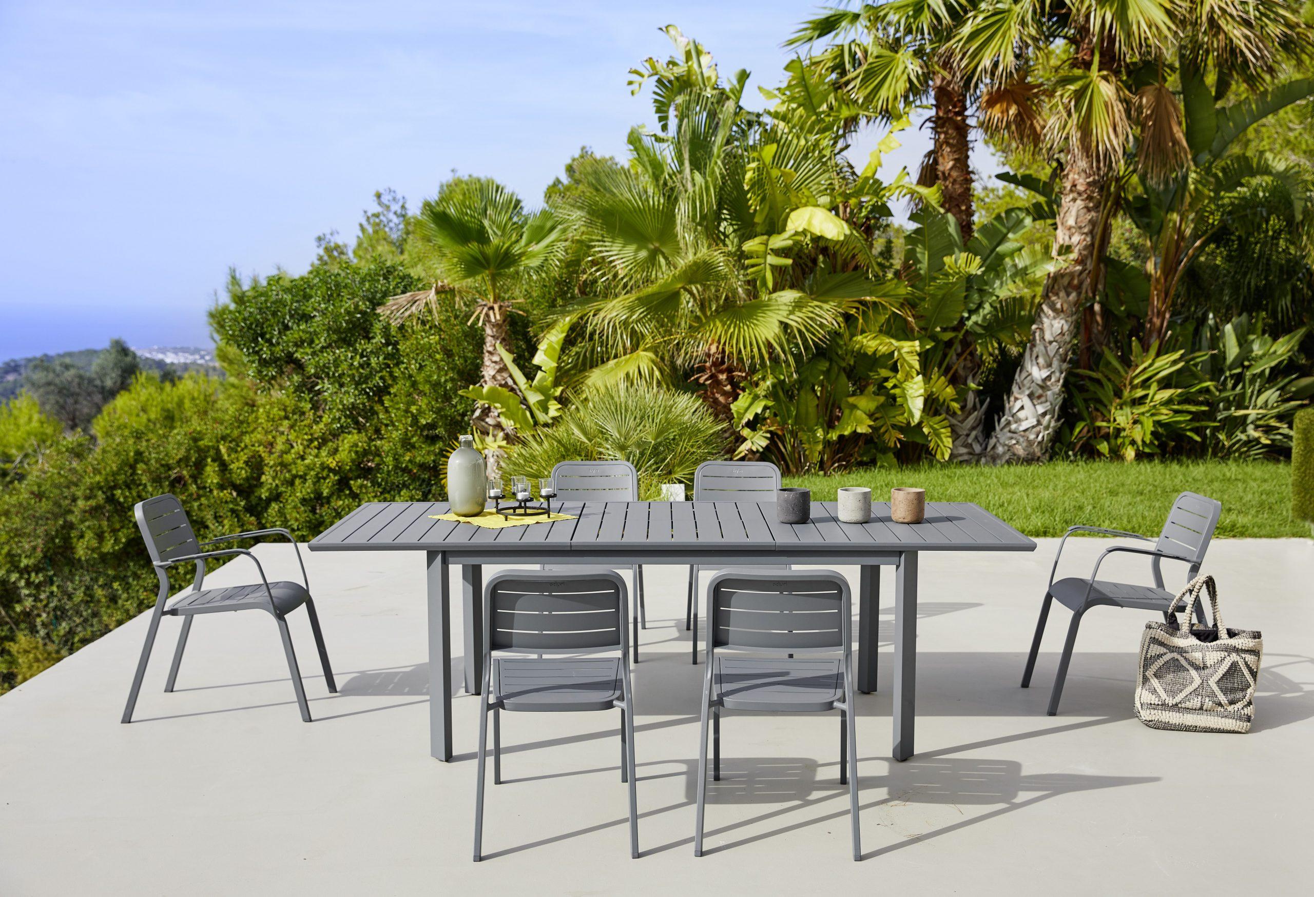 Evenements Jardin   Table De Jardin Alu, Mobilier Jardin Et ... dedans Chaise Longue De Jardin Carrefour