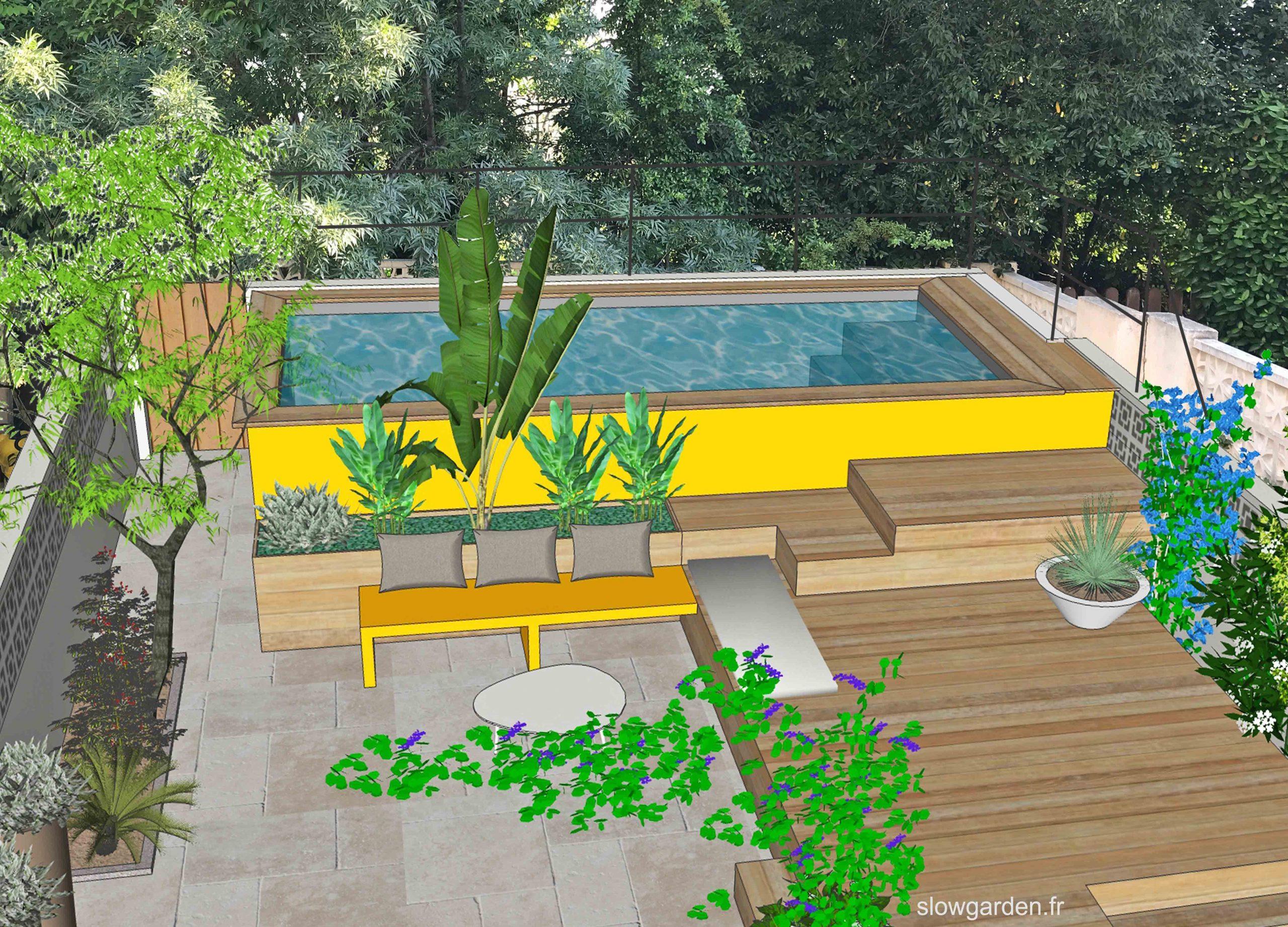 Exemples De Projets - Slowgarden | Terrasse Jardin ... avec Exemple D Aménagement De Jardin