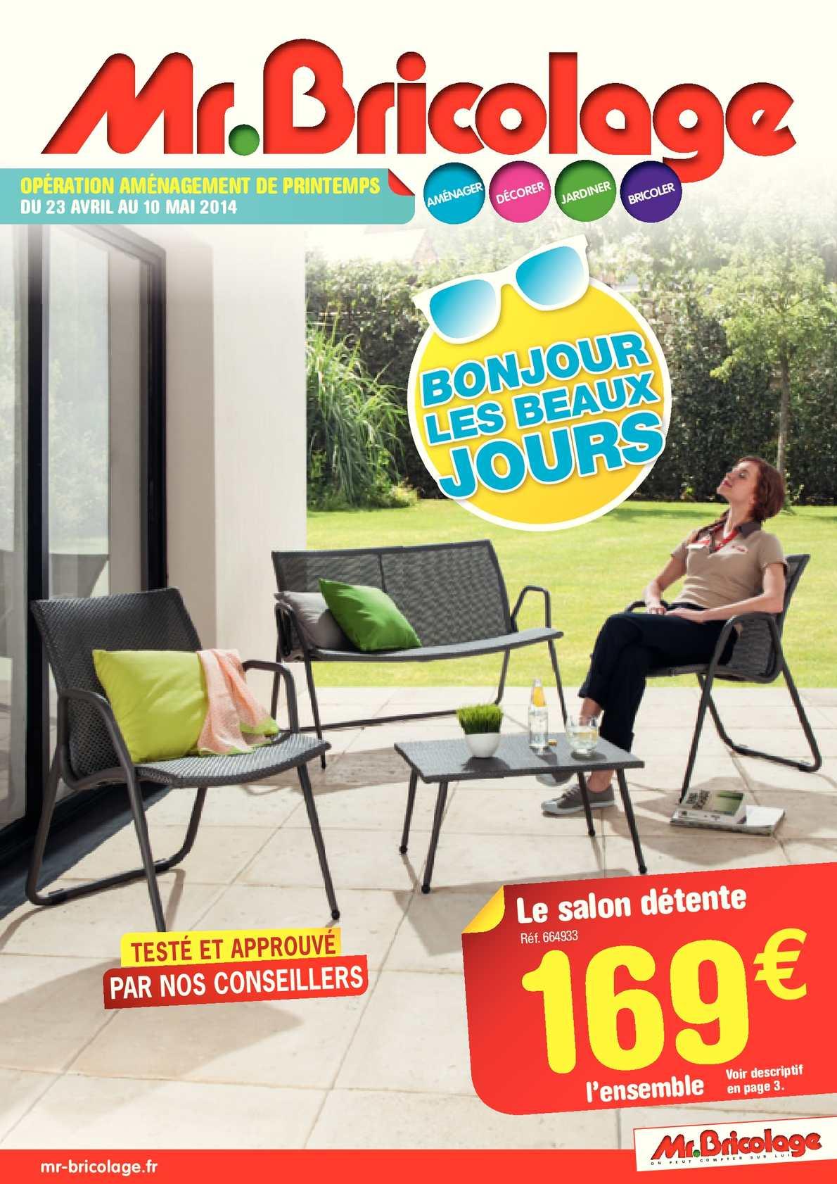 Extérieur Bricolage Aménagement Catalogue Pages Calaméo 12 ... intérieur Salon De Jardin Mr Bricolage