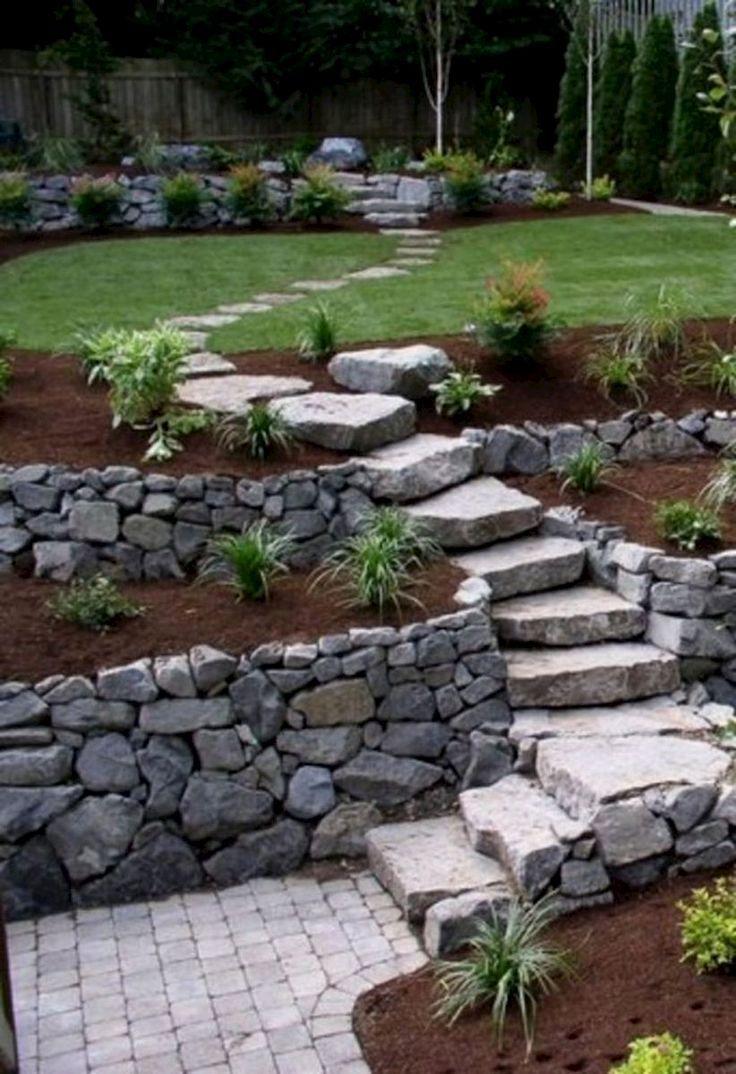 Faboulous Front Yard Path And Walkway Landscaping Ideas (31 ... serapportantà Amenagement Jardin Avec Pierres