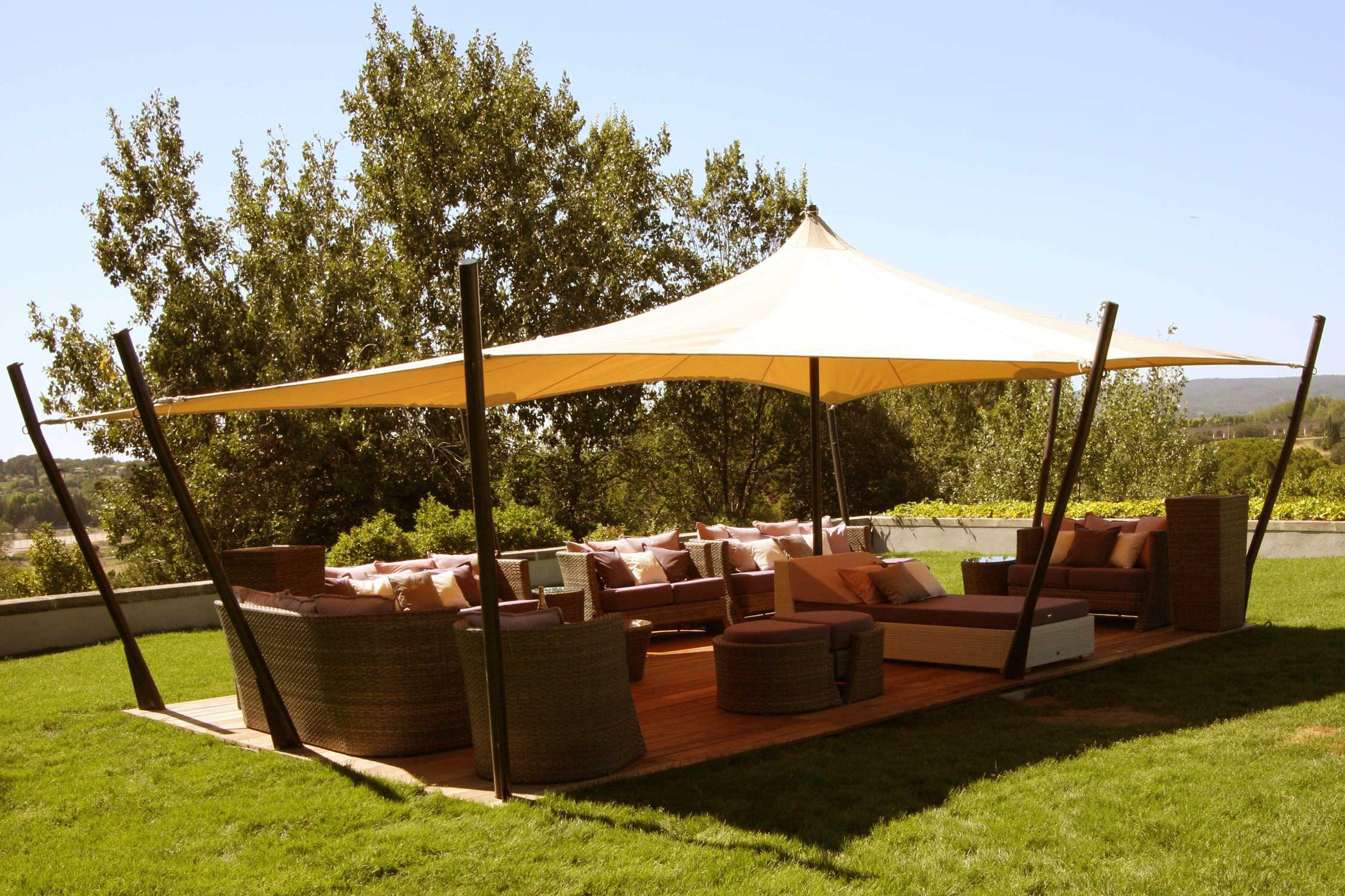 Fabric Roof Gazebo - Tente Touareg Jardin Aixois - Atelier ... tout Toile Triangle Jardin