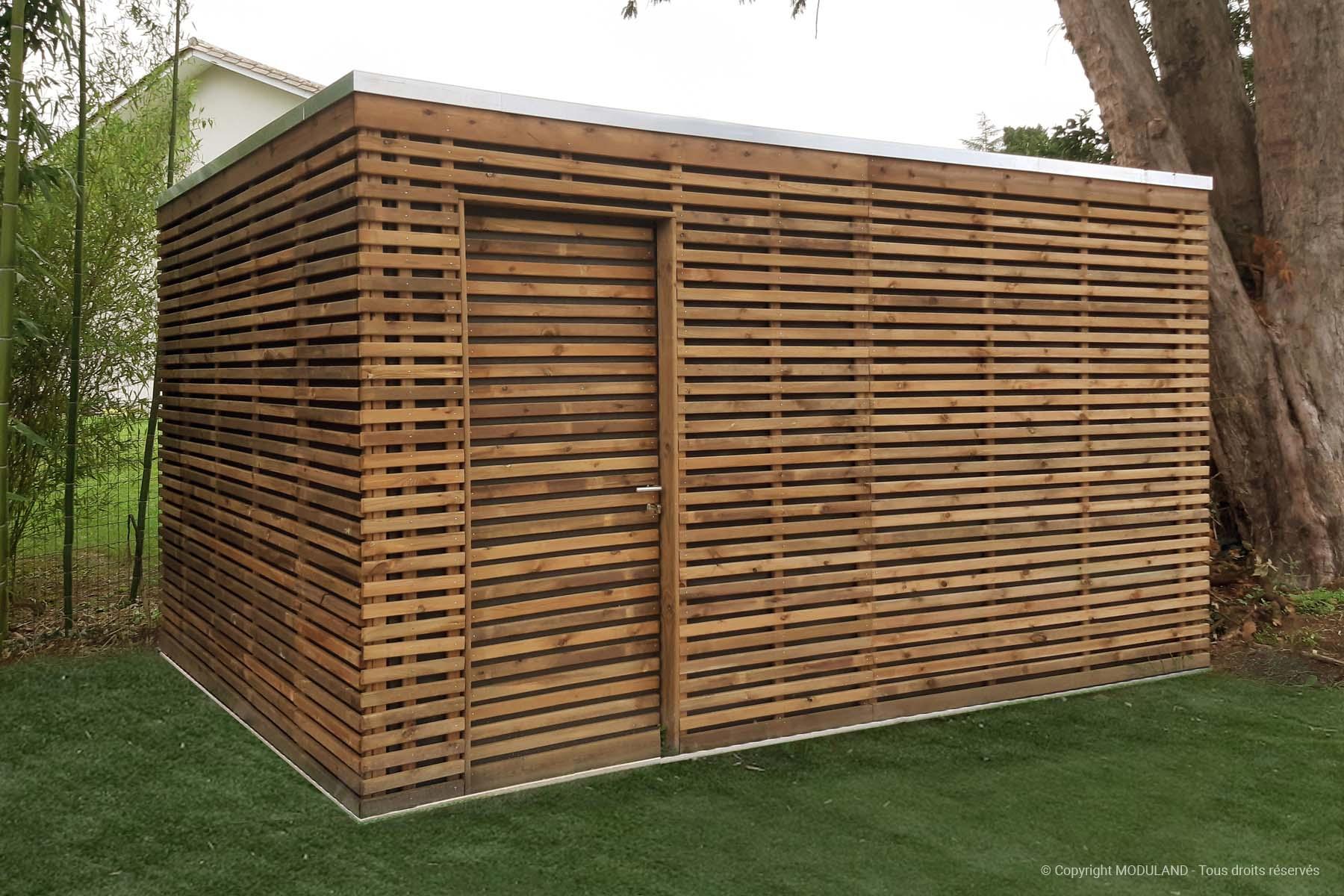Fabricant D'abris Et Structures Bois Sur Mesure | Moduland serapportantà Abri De Jardin Sur Mesure