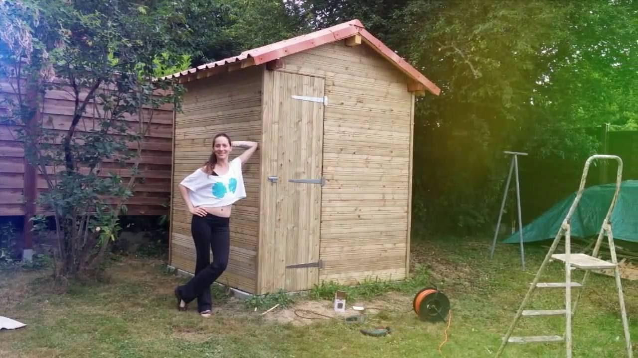 Fabrication Abri De Jardin Version Débutant concernant Construire Un Abri De Jardin En Bois Soi Meme