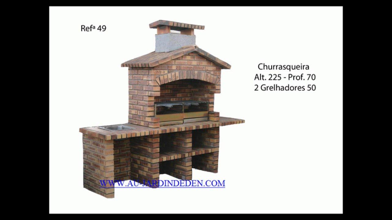 Fabrication De Barbecue En Brique Leopard - à Barbecue De Jardin En Brique