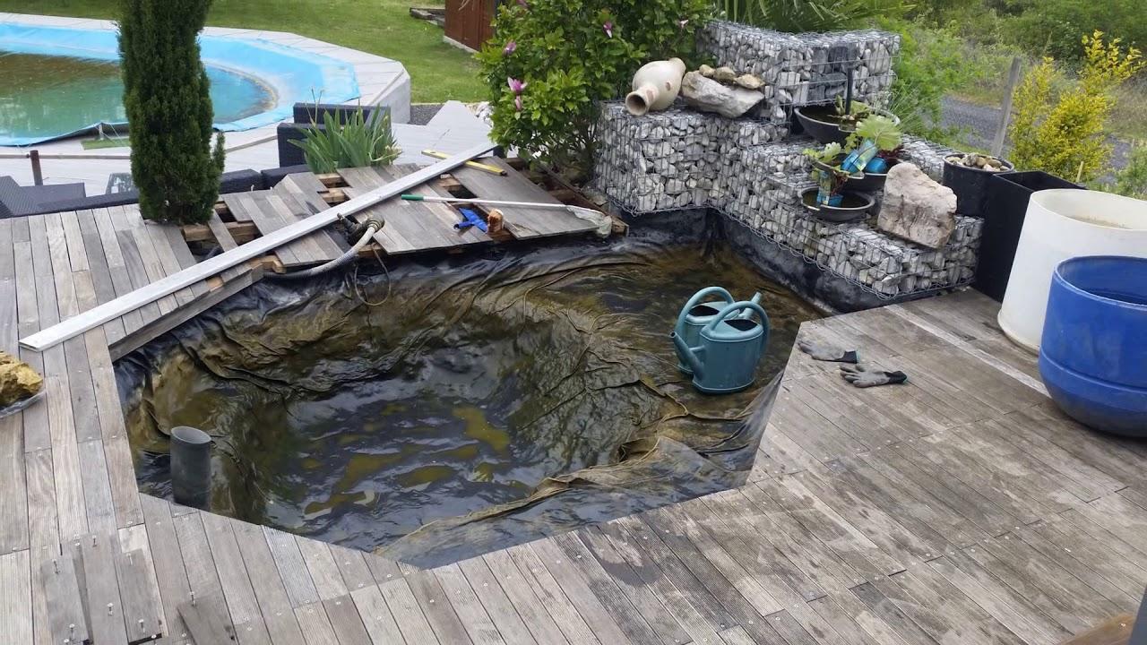 Fabrication D'un Bassin Aquatique Avec Cascade concernant Creation Cascade Bassin Jardin