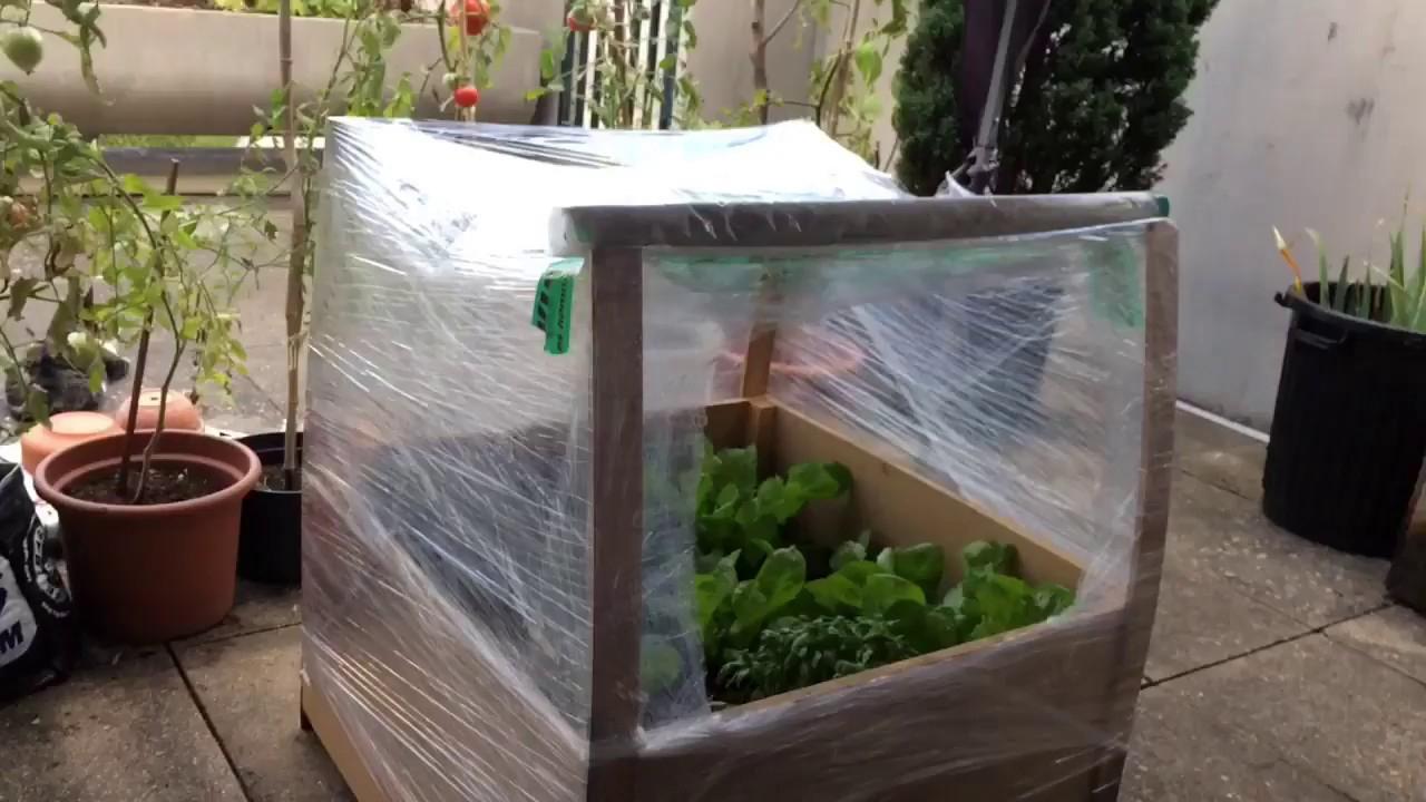 Fabrication D'une Serre En 5 Minutes Pour Le Potager Urbain serapportantà Mini Serre De Jardin Pas Cher