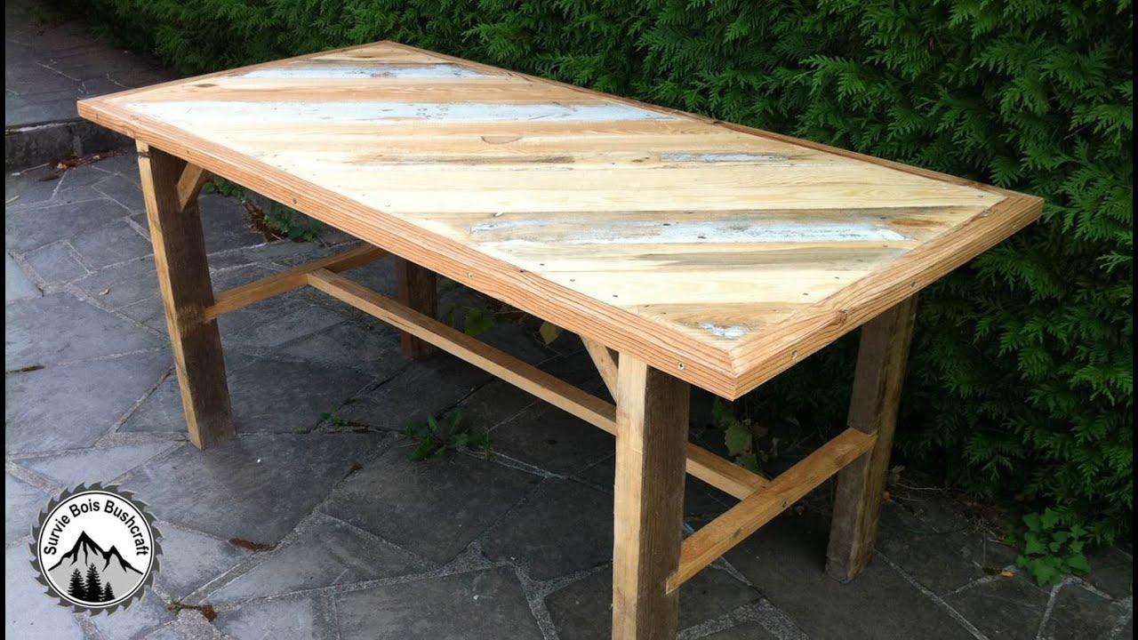 Fabrication D'une Table Solide En Bois De Récupération - Partie 1 pour Plan Pour Fabriquer Une Table De Jardin En Bois