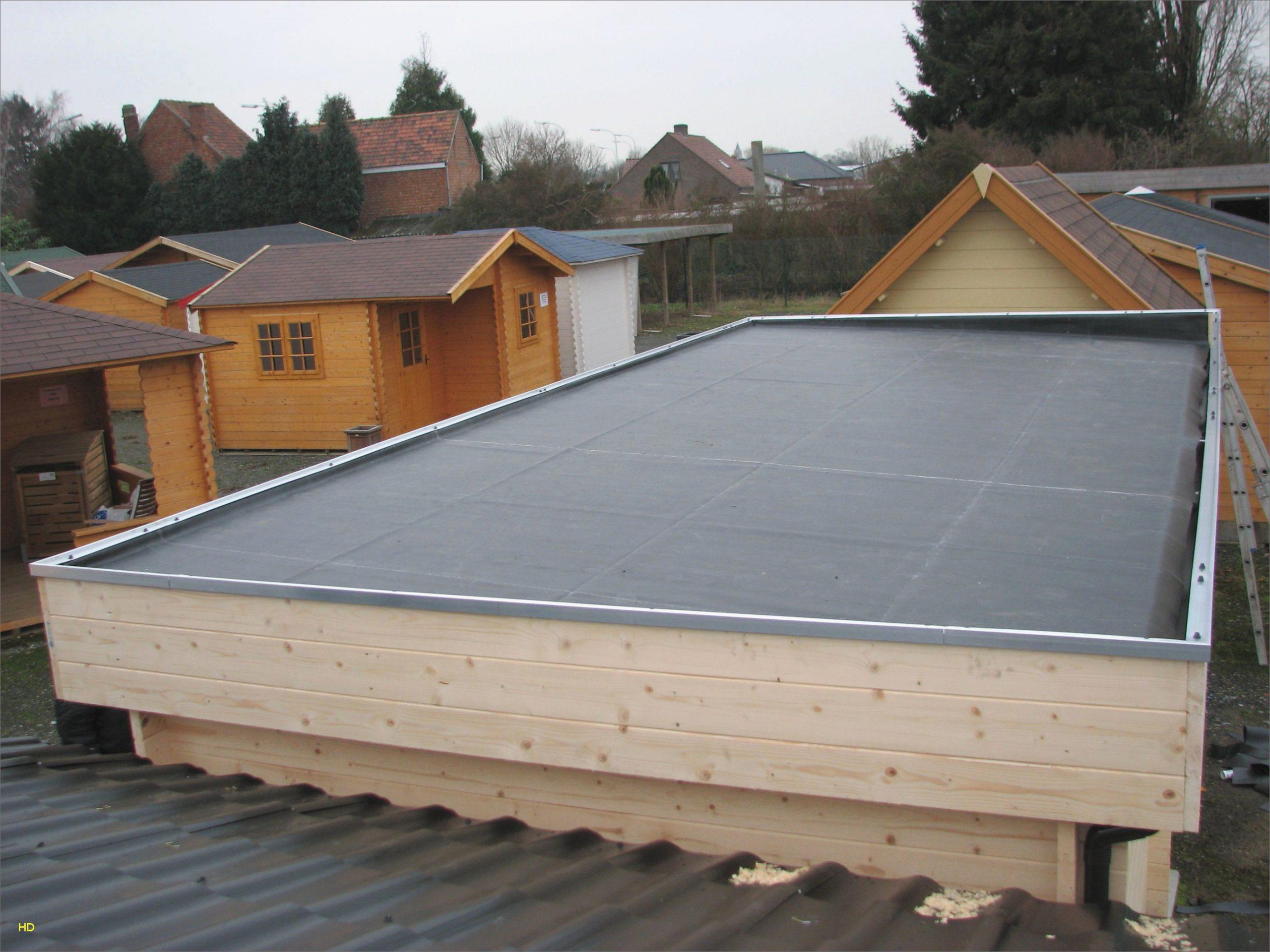 Fabriquer Carport Toit Plat Élégant Construire Garage Bois ... à Fabriquer Un Abri De Jardin