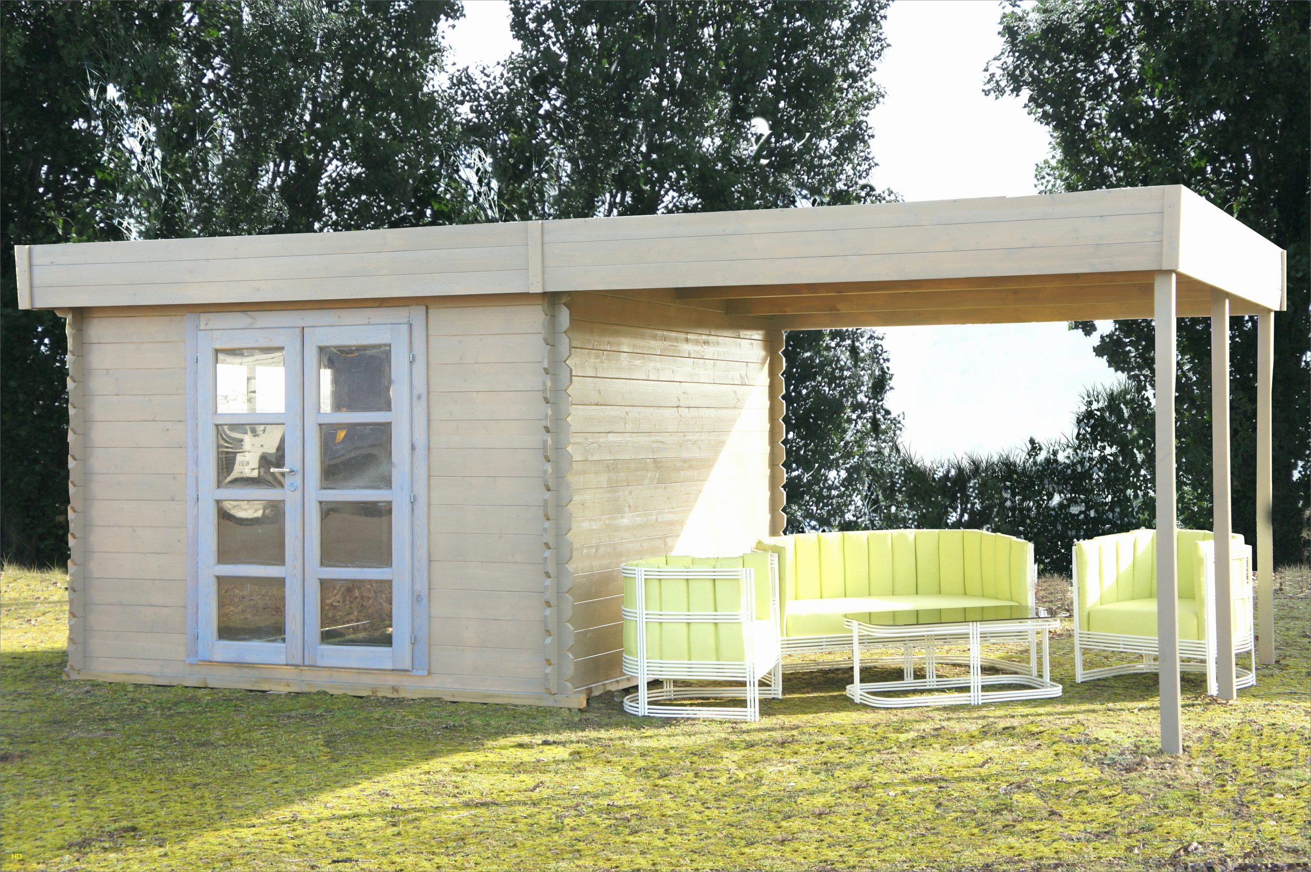 Fabriquer Carport Toit Plat Élégant Construire Garage Bois ... à Fabriquer Une Cabane De Jardin